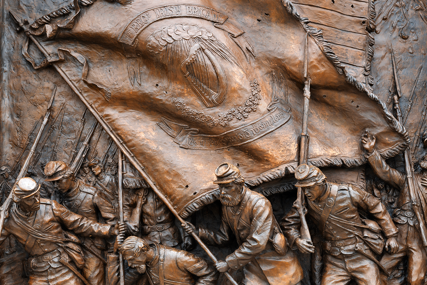 Irish Brigade Monument Close-up, America, Relief, Shadows, Shadow, HQ Photo
