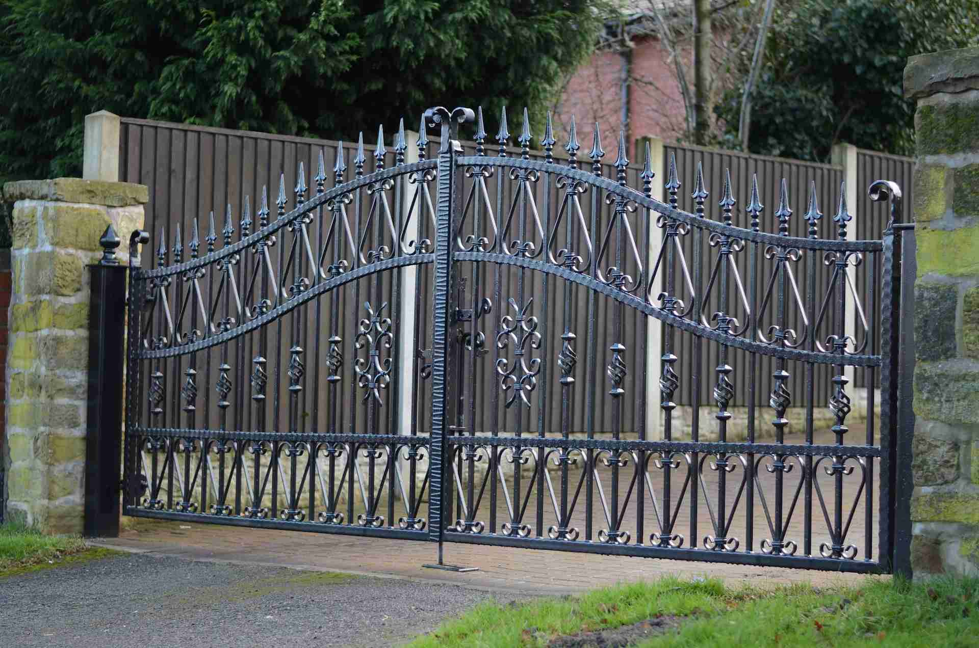 Wrought Iron Gates Gate Designs Fences And Home Ideas Collection ...