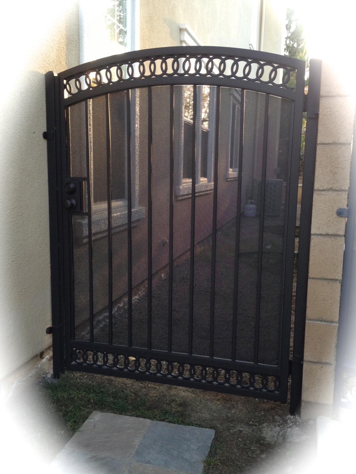 Iron Walk Gates | Custom Steel Framed and Wood Framed Gates In ...