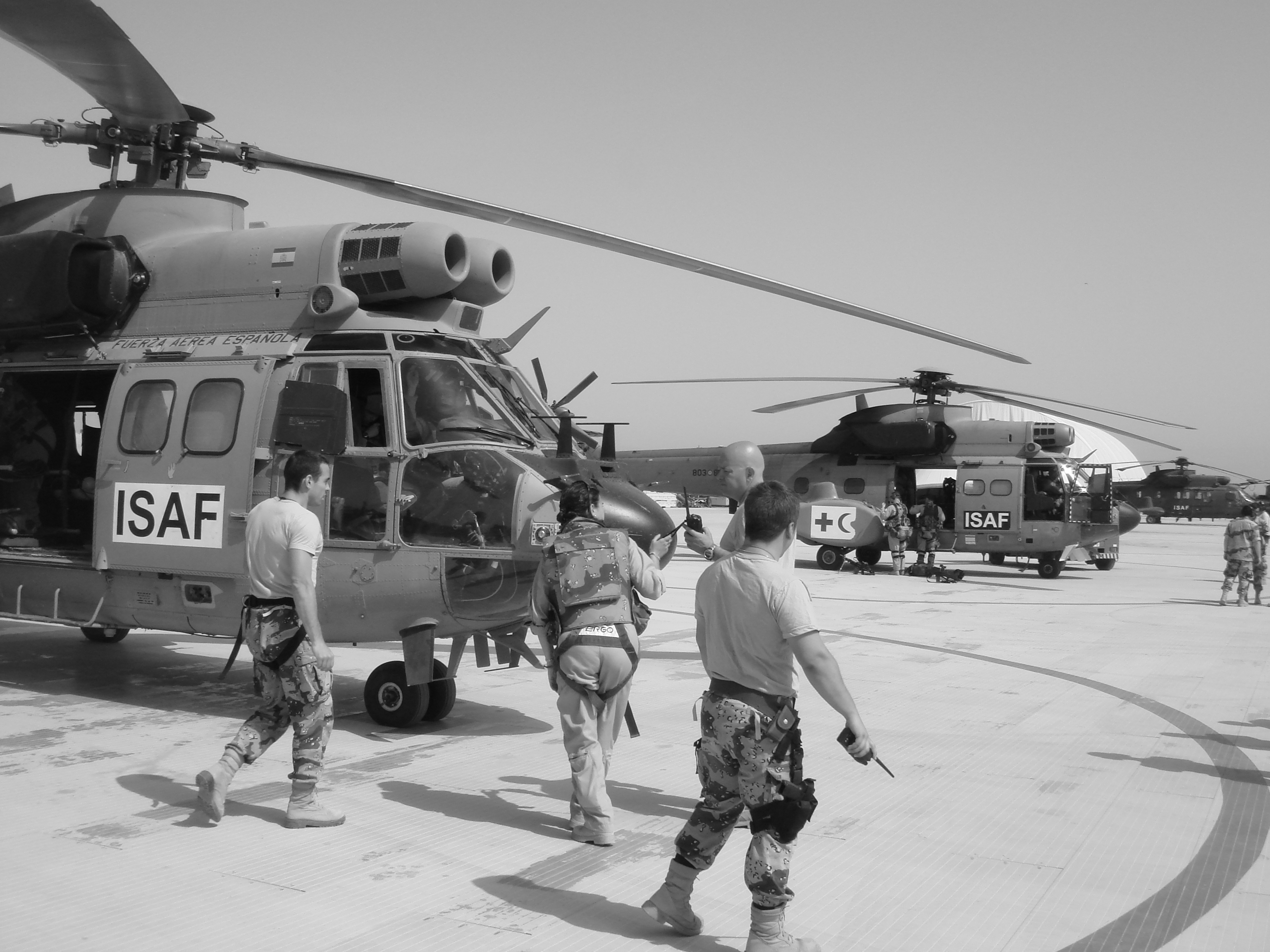 Isaf transport helicopters of spain. photo