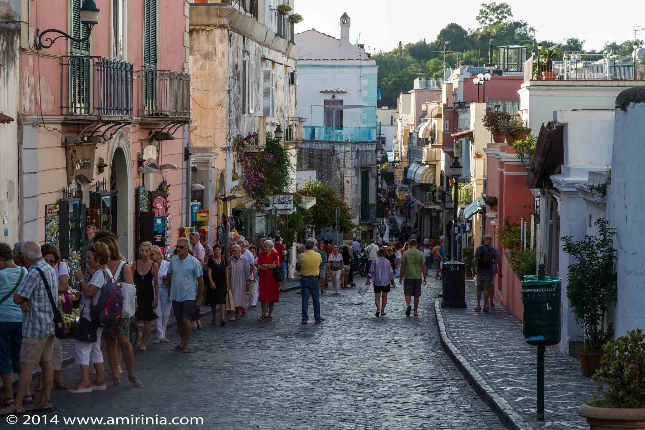 Ischia porto town photo