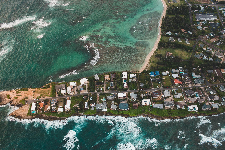 Island, Aerial, Houses, Residence, Sea, HQ Photo