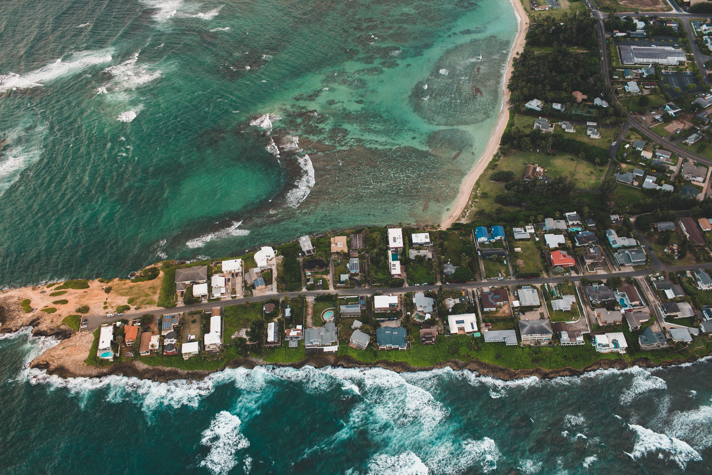 Island, Beach, City, Construction, Flow, HQ Photo