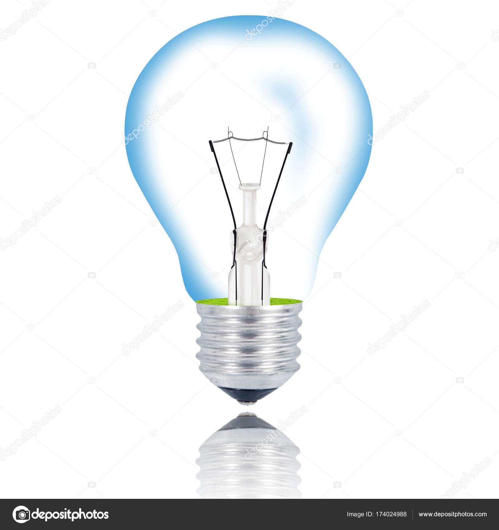 isolated light bulb on white background — Stock Photo © Photobeps ...