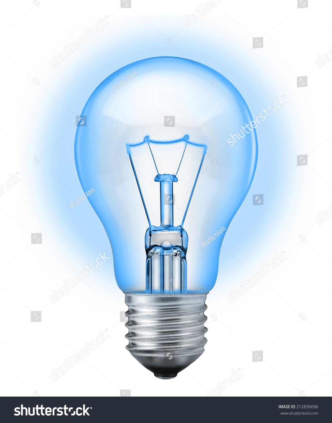Light Bulb Isolated On White Background Stock Photo 212836096 ...