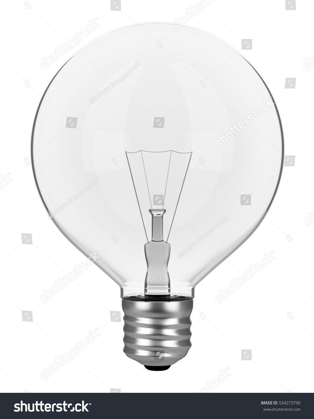 Light Bulb Isolated On White Background Stock Illustration 534273790 ...