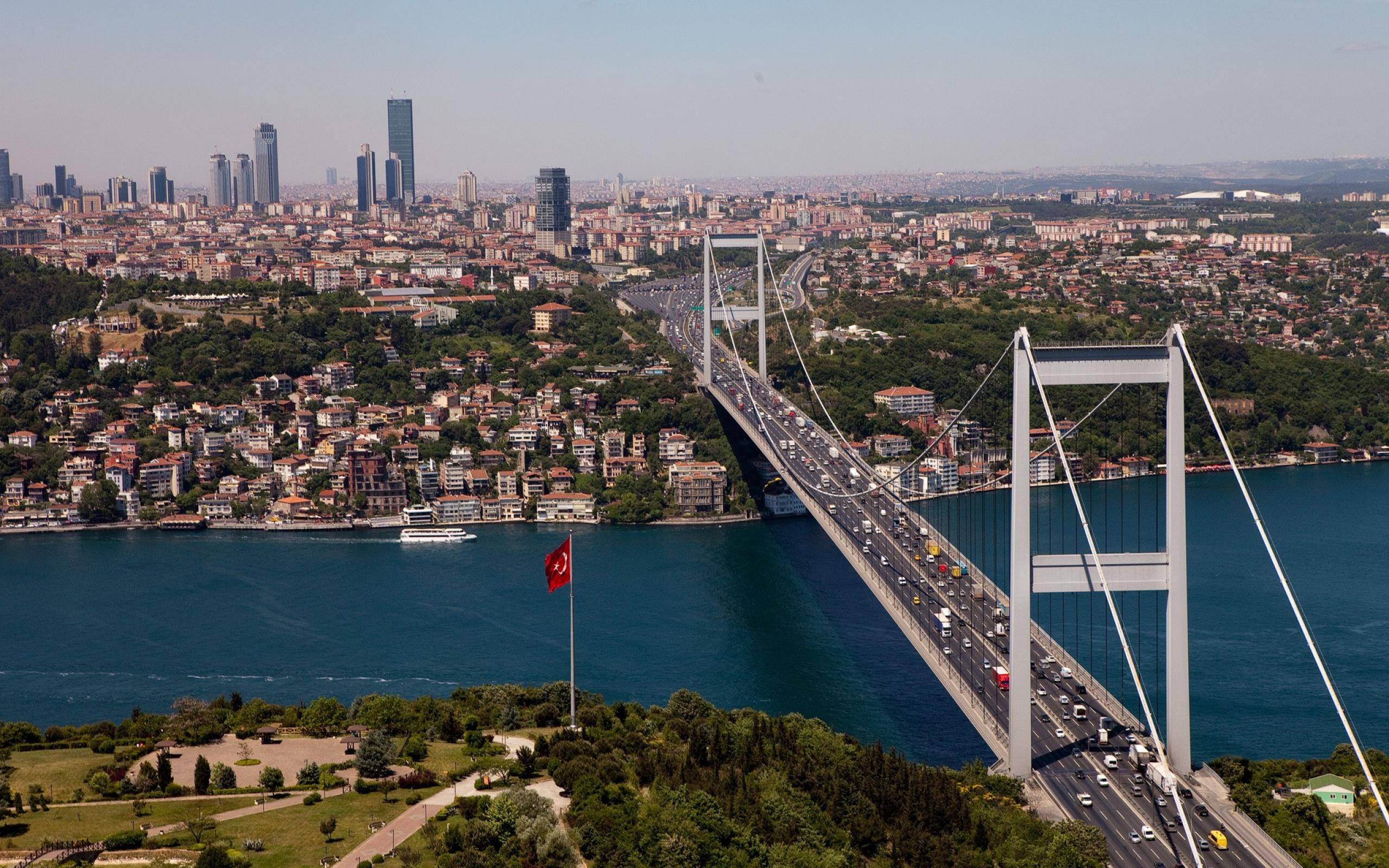 Download 2560x1600 bosphorus bridge, istanbul, turkey, bosphorus ...