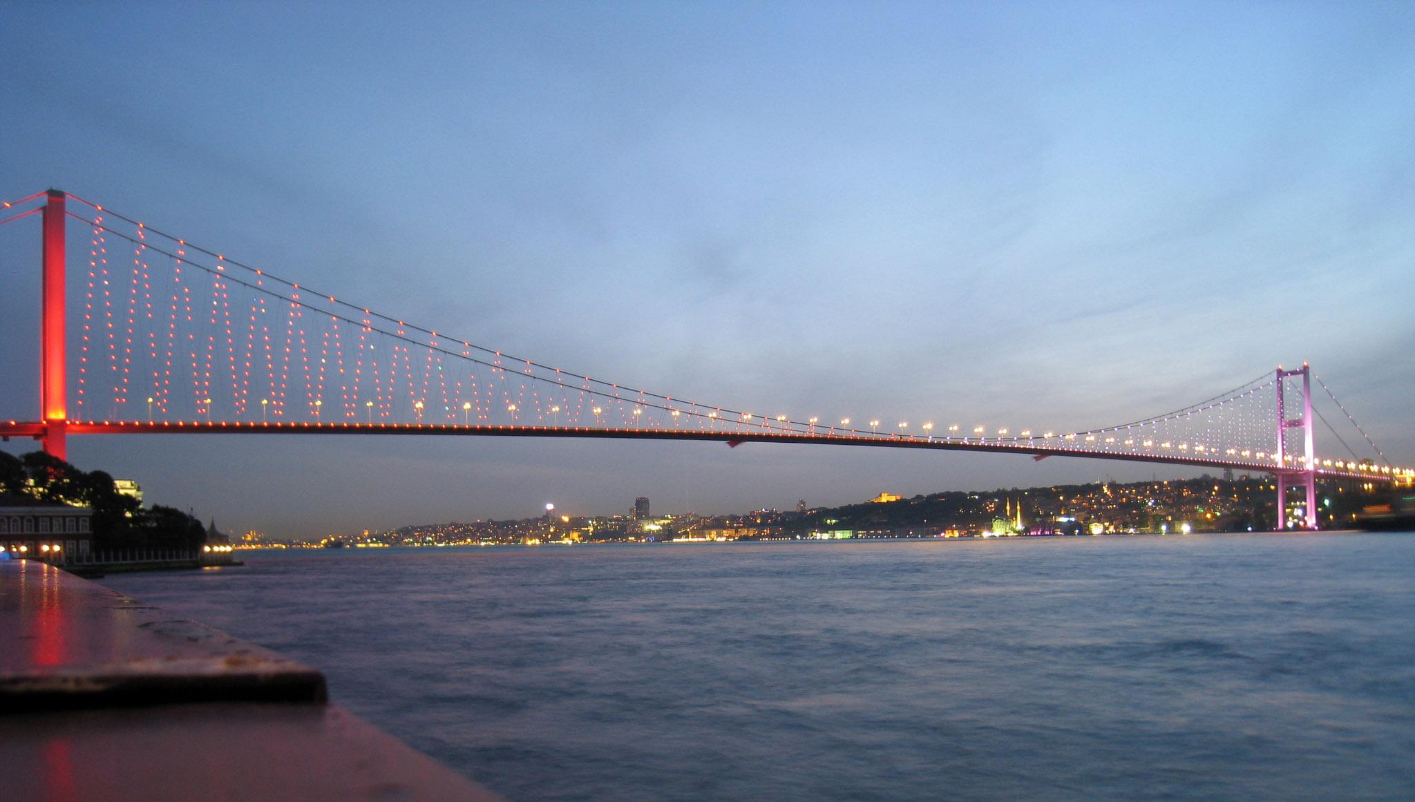 Bosphorus Bridge in Istanbul, Turkey image - Free stock photo ...