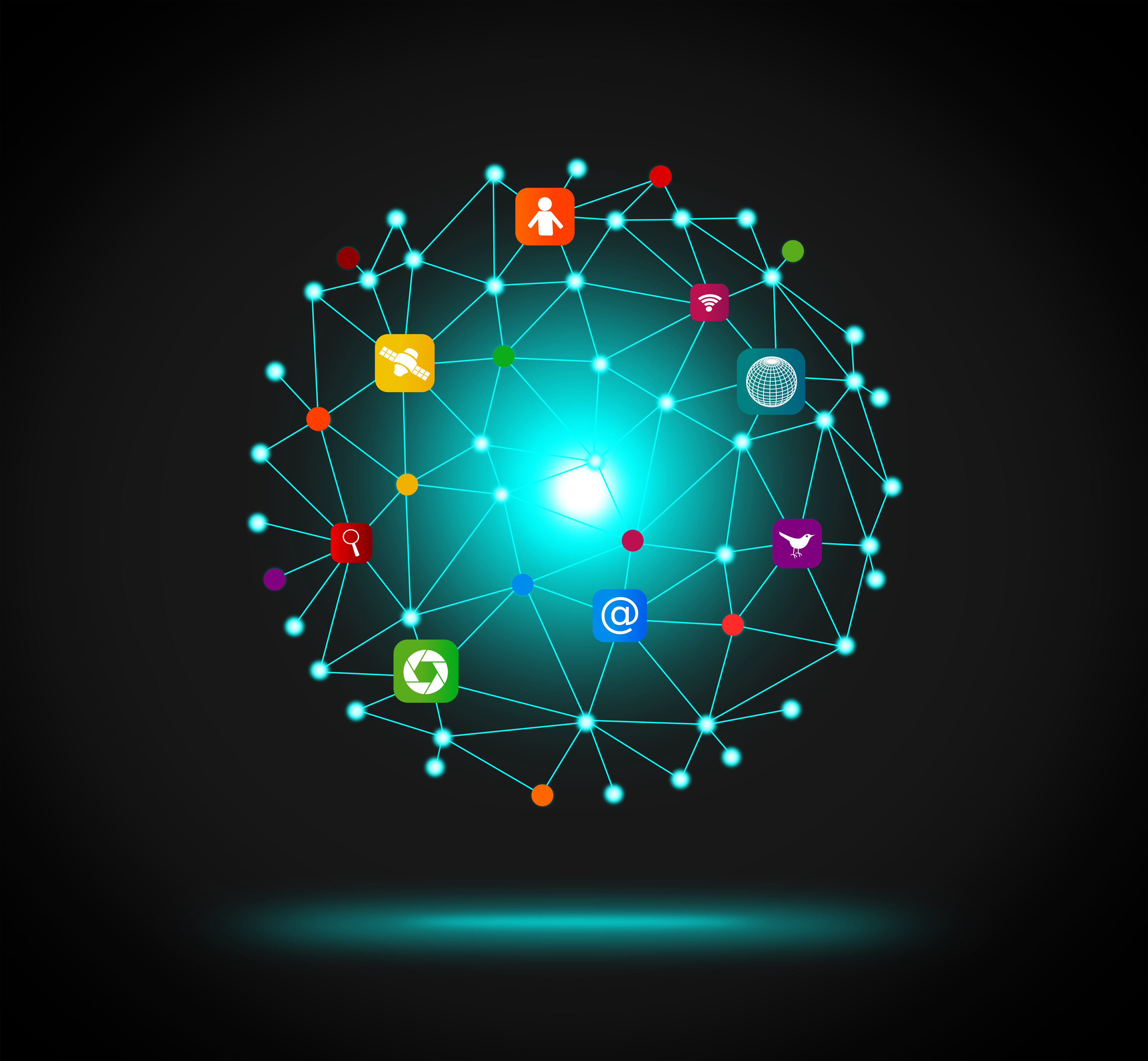 IT - Information Technology network concept, Pad, Partners, Ornamental, Ornament, HQ Photo