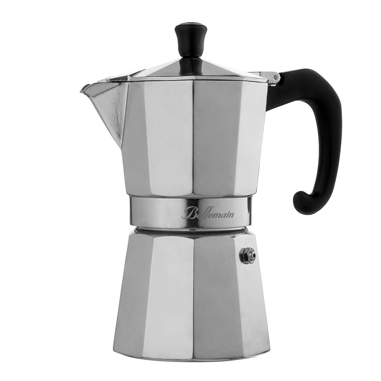 Amazon.com: Bellemain 6-Cup Stovetop Espresso Maker Moka Pot ...