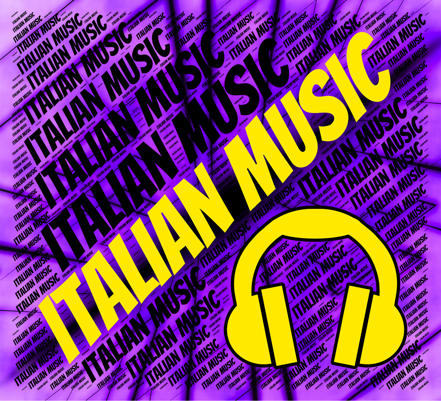 Italian music indicates sound track and audio photo