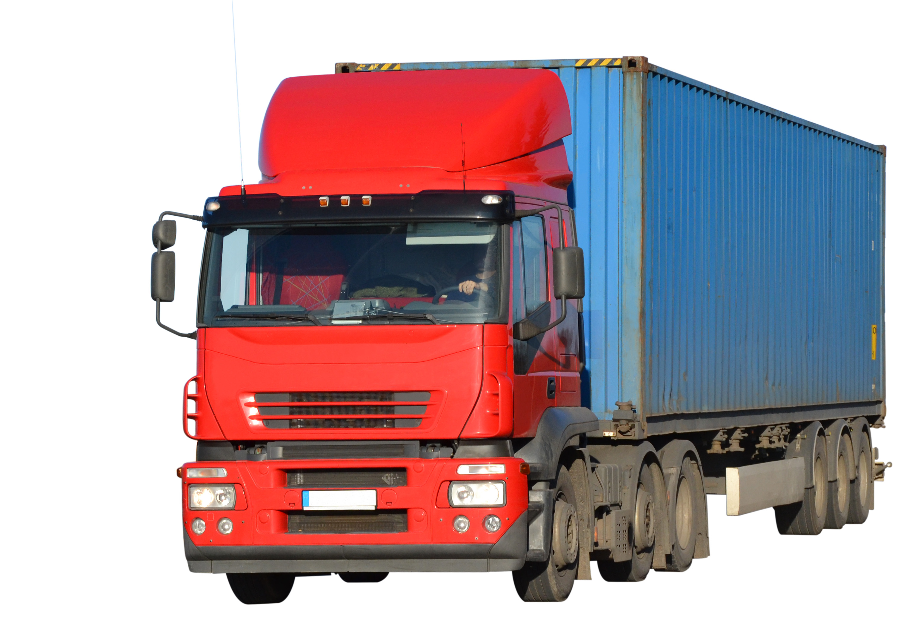 Iveco truck isolated, Automobile, Machine, Motor, Red, HQ Photo