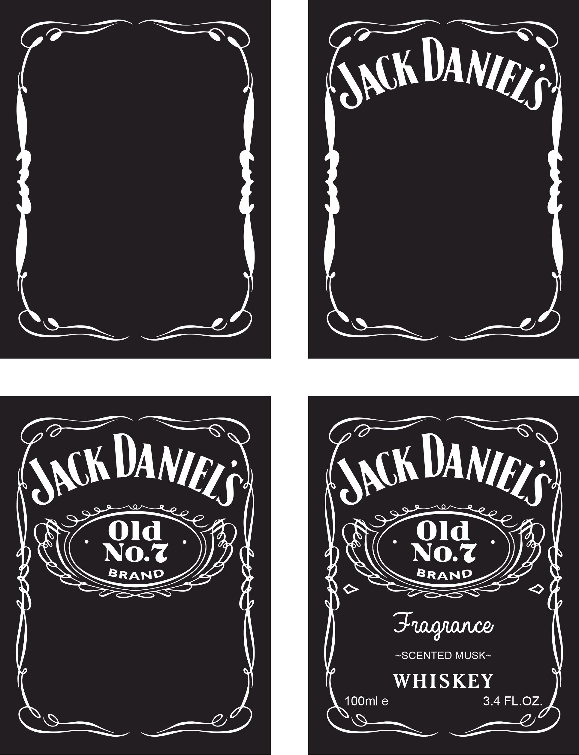 This is an image of Mesmerizing Jack Daniels Label Template