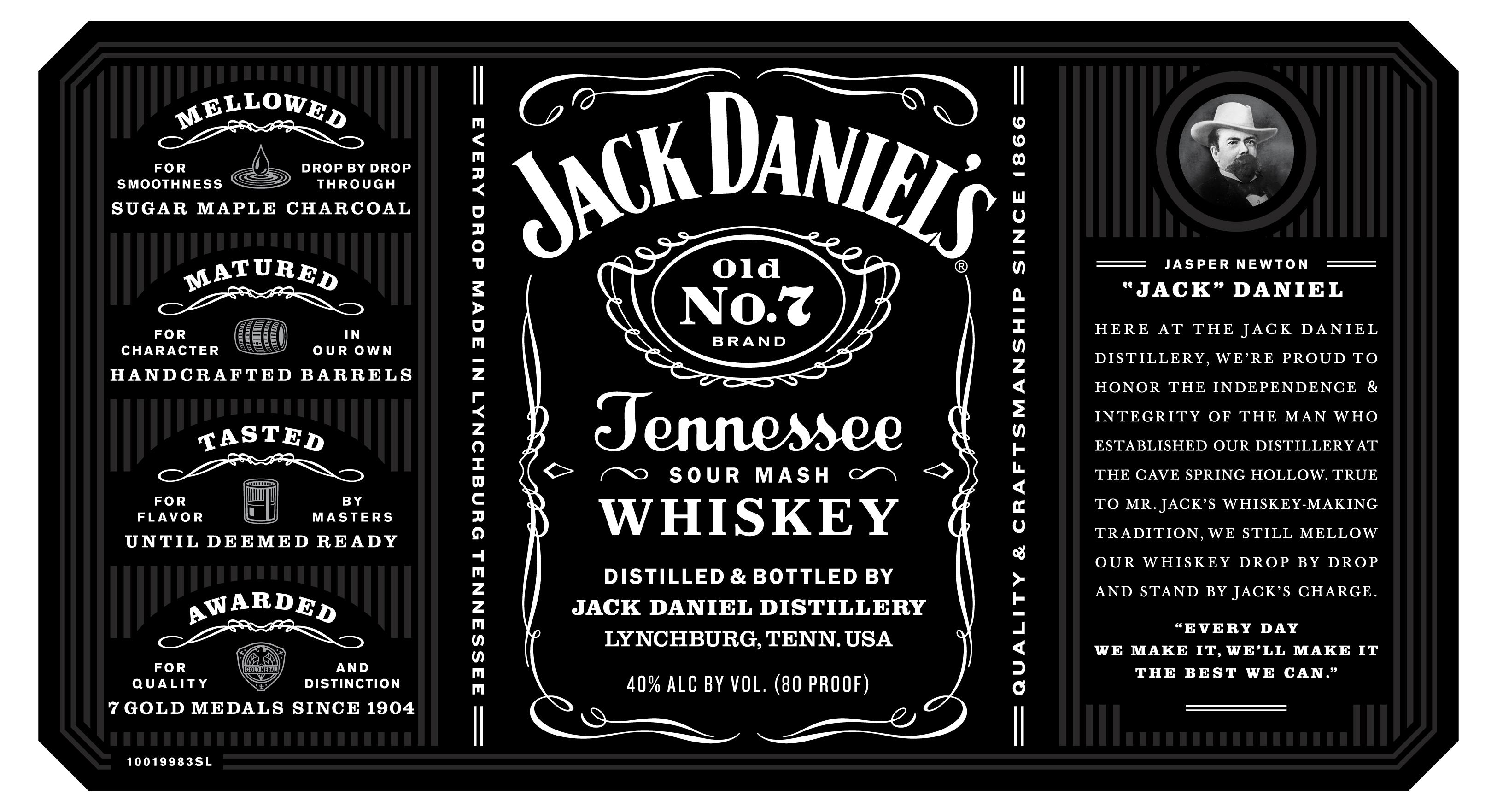 This is a photo of Punchy Jack Daniels Label Template