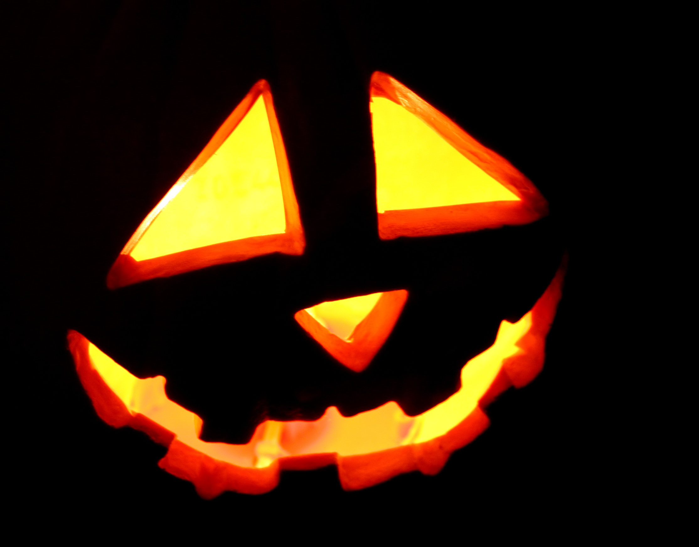 Jack-O-Latern, Candle, Carving, Glowing, Halloween, HQ Photo