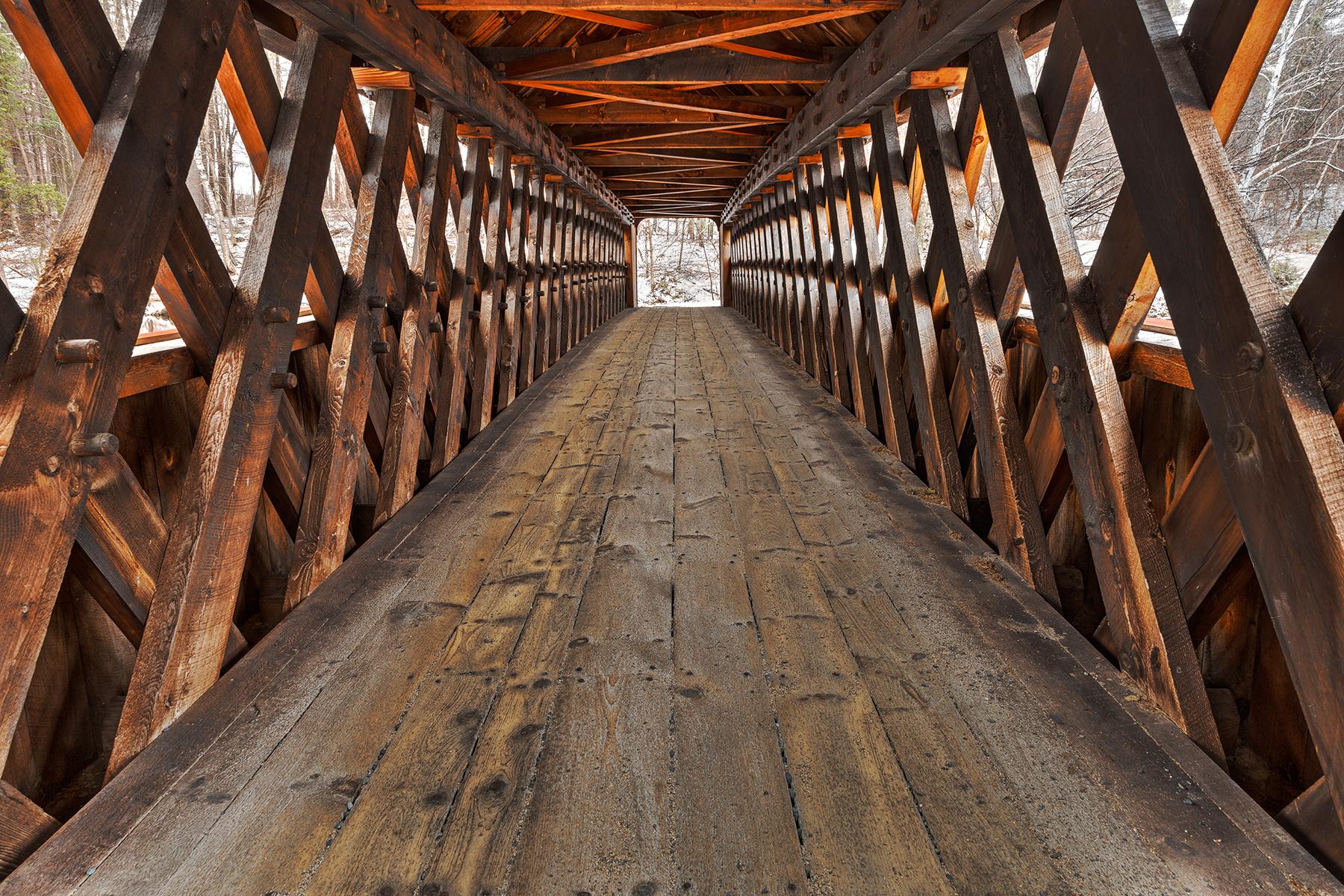 Jack o'lantern covered bridge - hdr photo