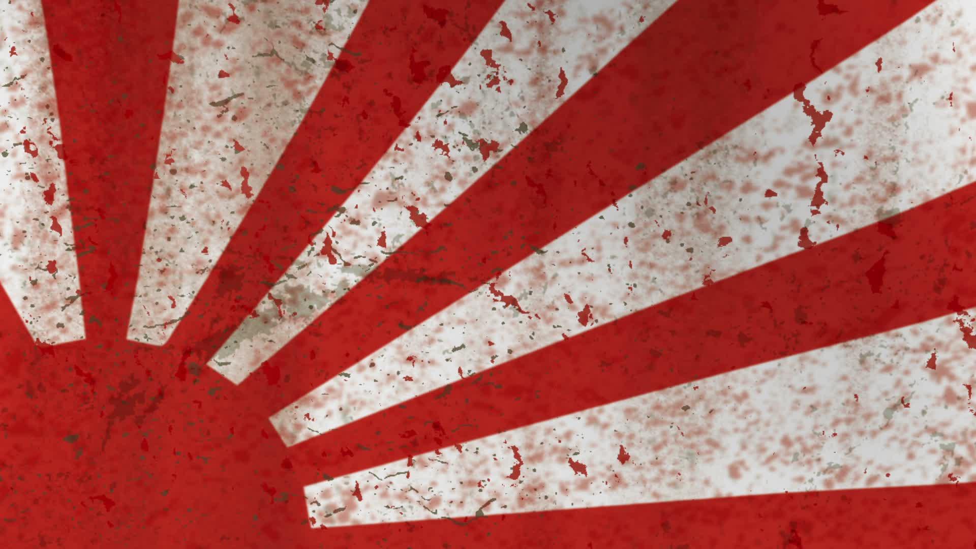 Dirt grunge japanese rising sun flag edge ~ Hi Res #26399426