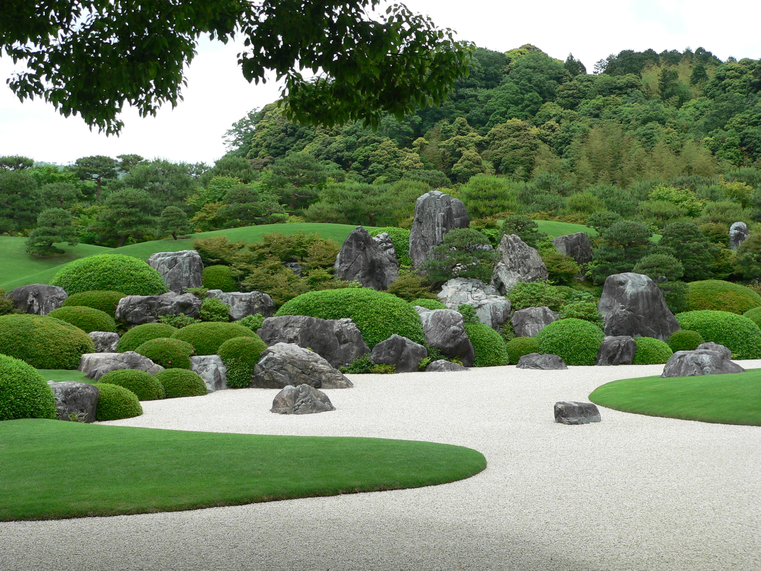 Japanese garden at adachi museum of art in shimane prefecture, japan photo