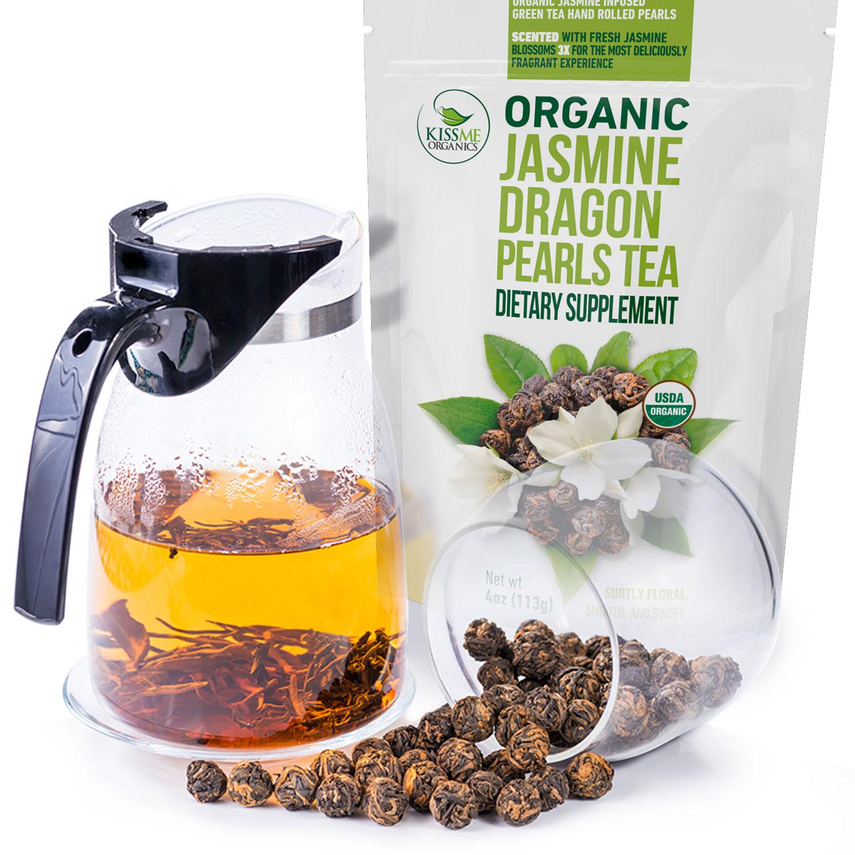 Jasmine Dragon Pearls Tea - KissMeOrganics US