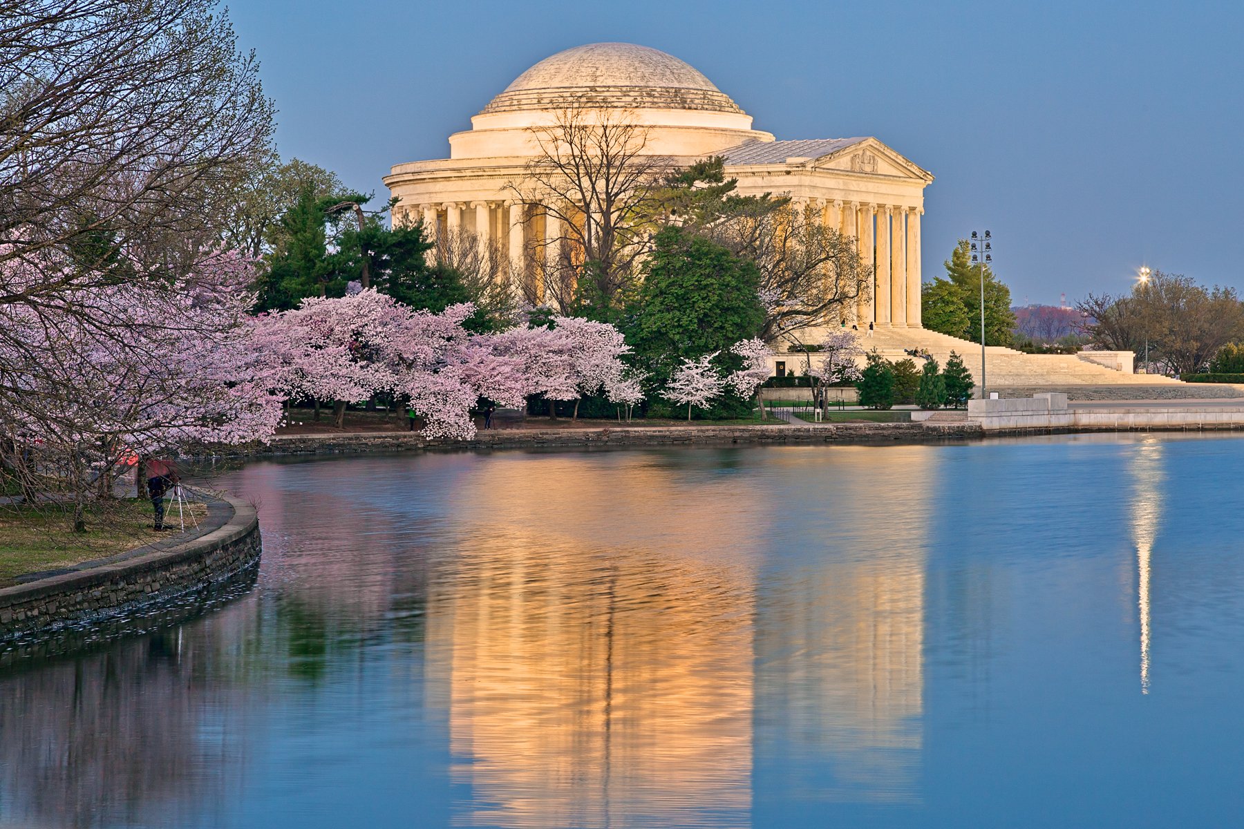 Jefferson Dawn Memorial - HDR, America, Power, Scenic, Scenery, HQ Photo