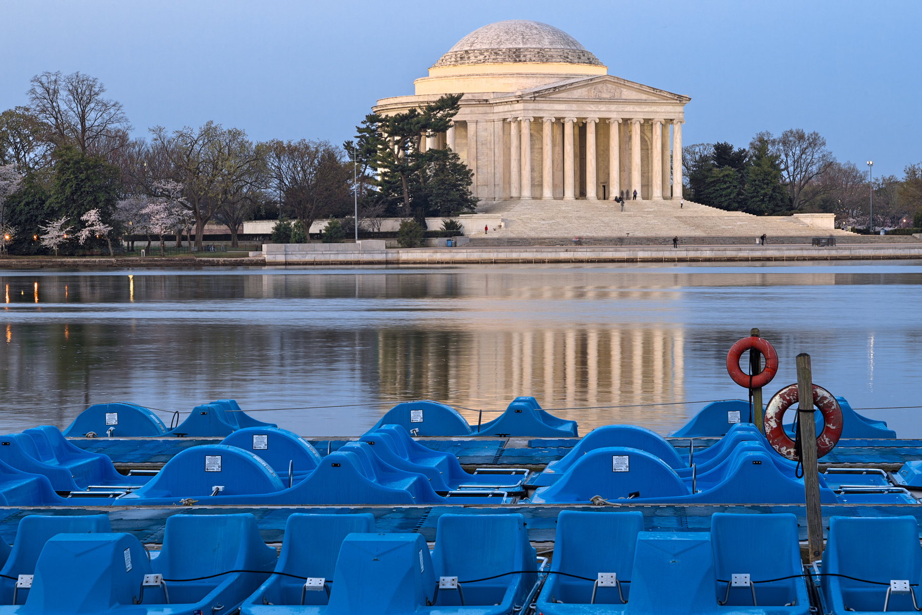 Jefferson memorial & pedal boats - hdr photo