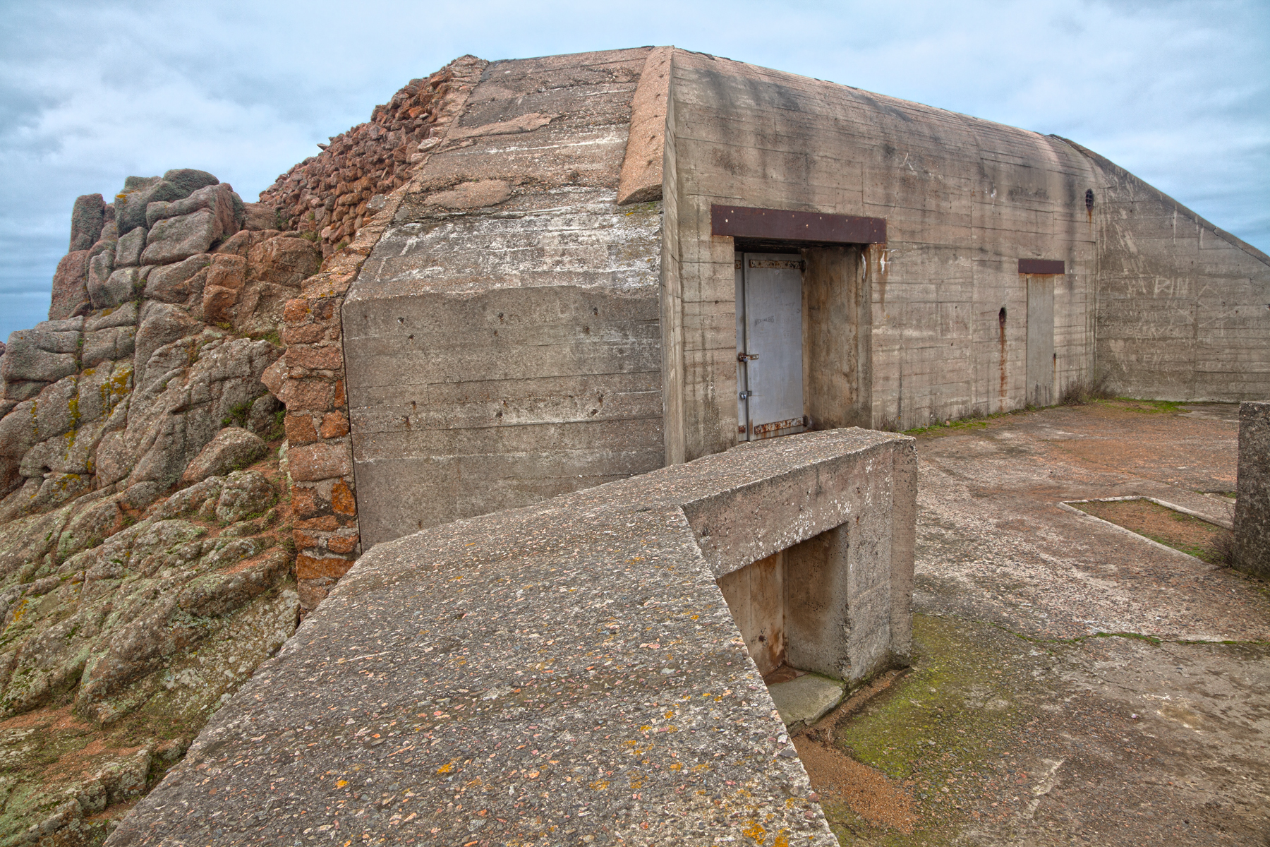 Jersey war bunker - hdr photo