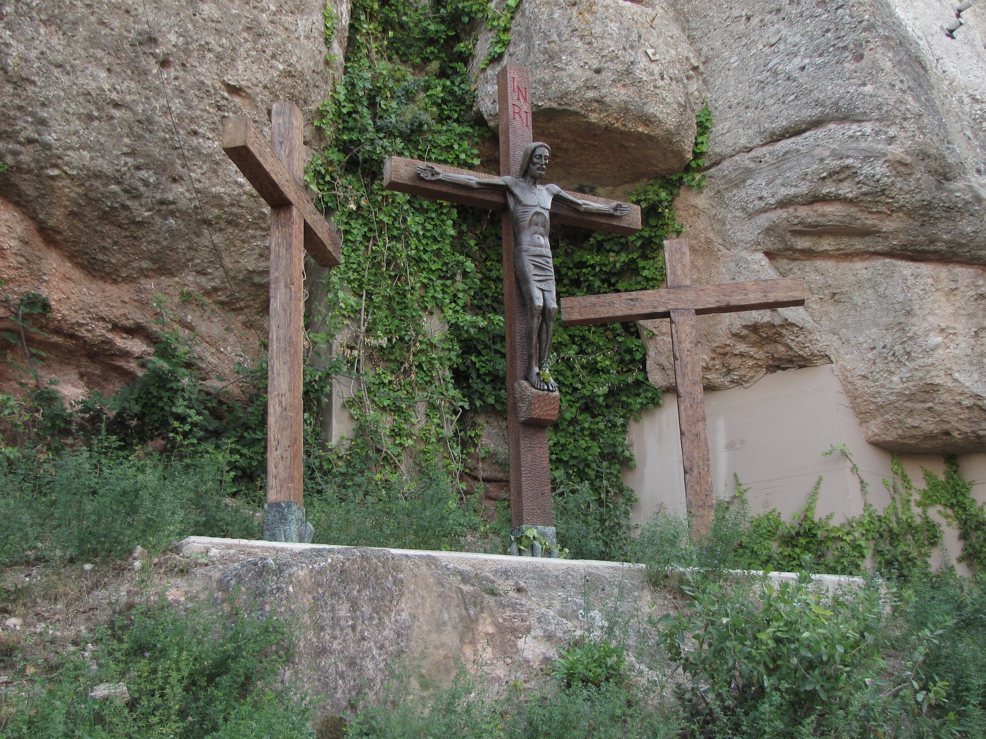 Jesus Cross, Carve, Cross, Jesus, Montserrat, HQ Photo