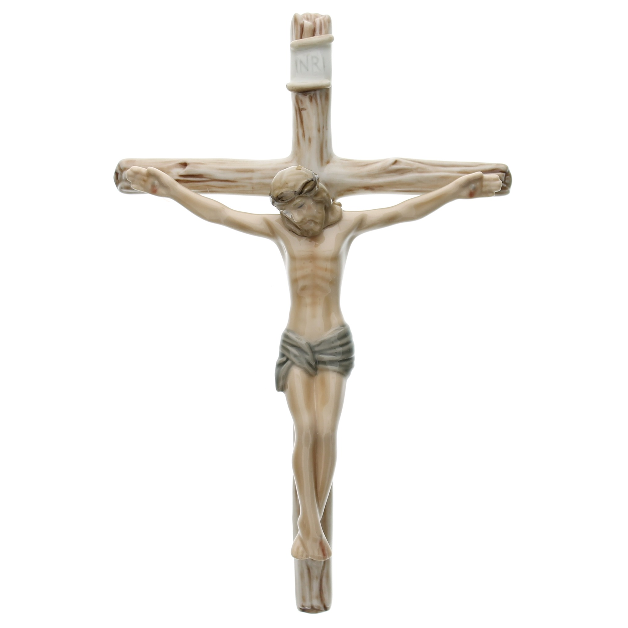 Jesus on the Cross Porcelain Crucifix | The Catholic Company