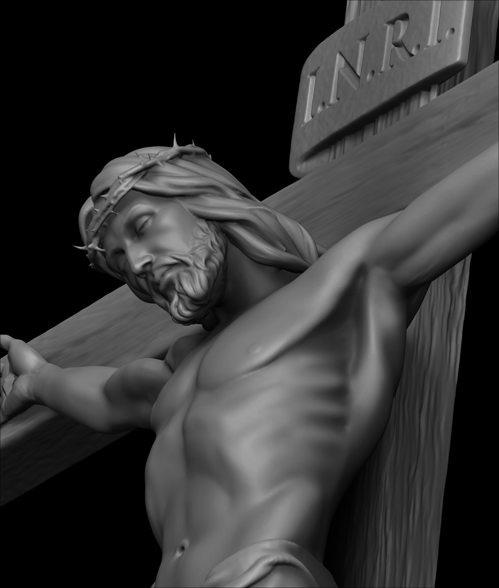 3D printable model JESUS ON THE CROSS | CGTrader