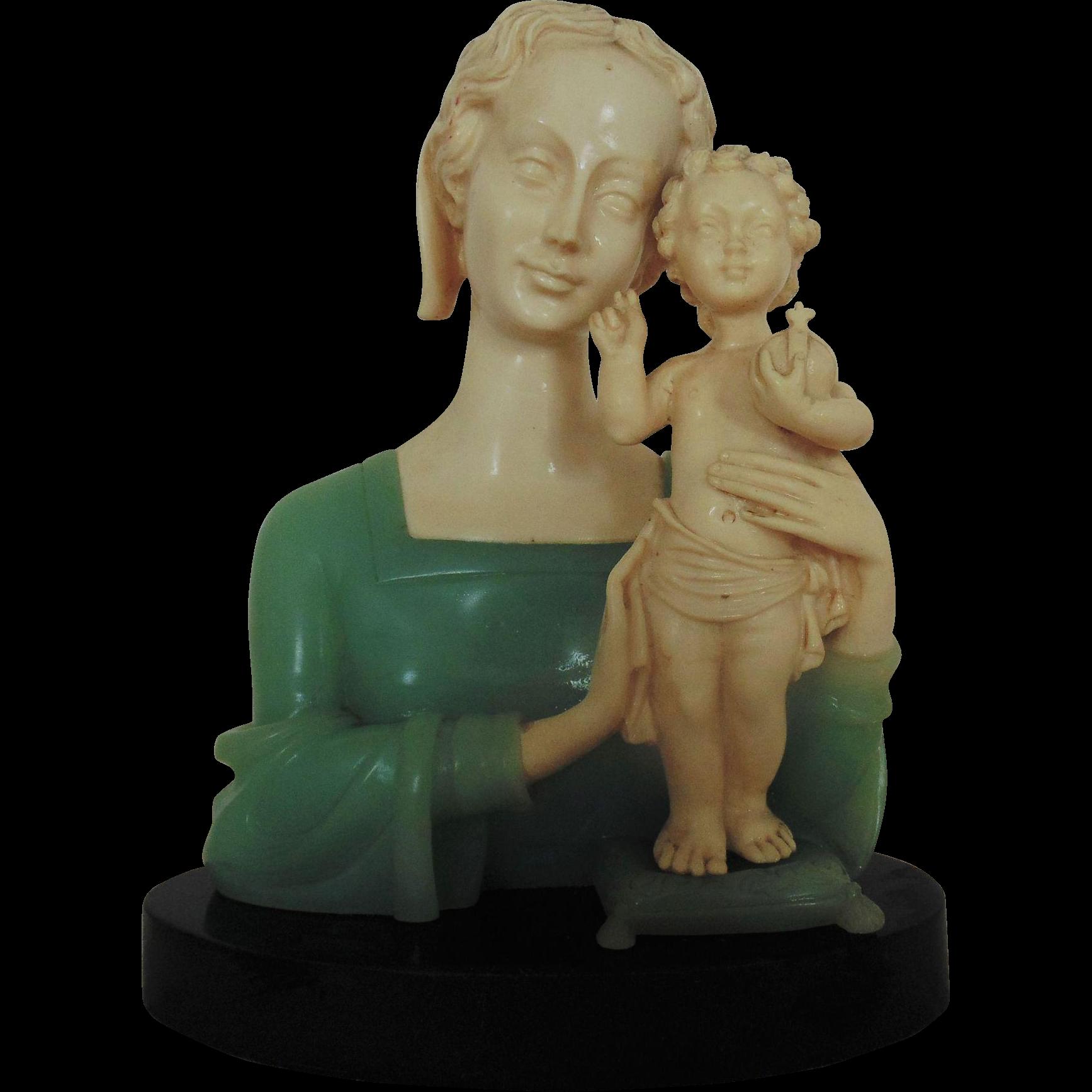 Vintage Ruggeri Bianchi Madonna & Baby Jesus Sculpture Statue ...