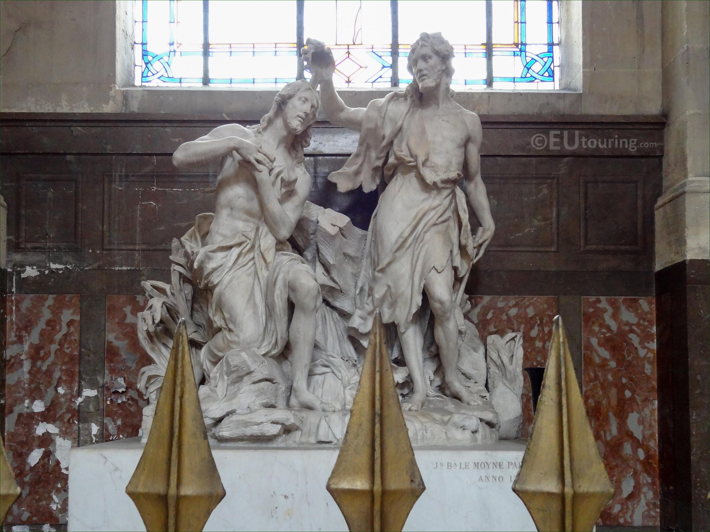 Baptism of Jesus statue inside Eglise Saint-Roch - Page 1062