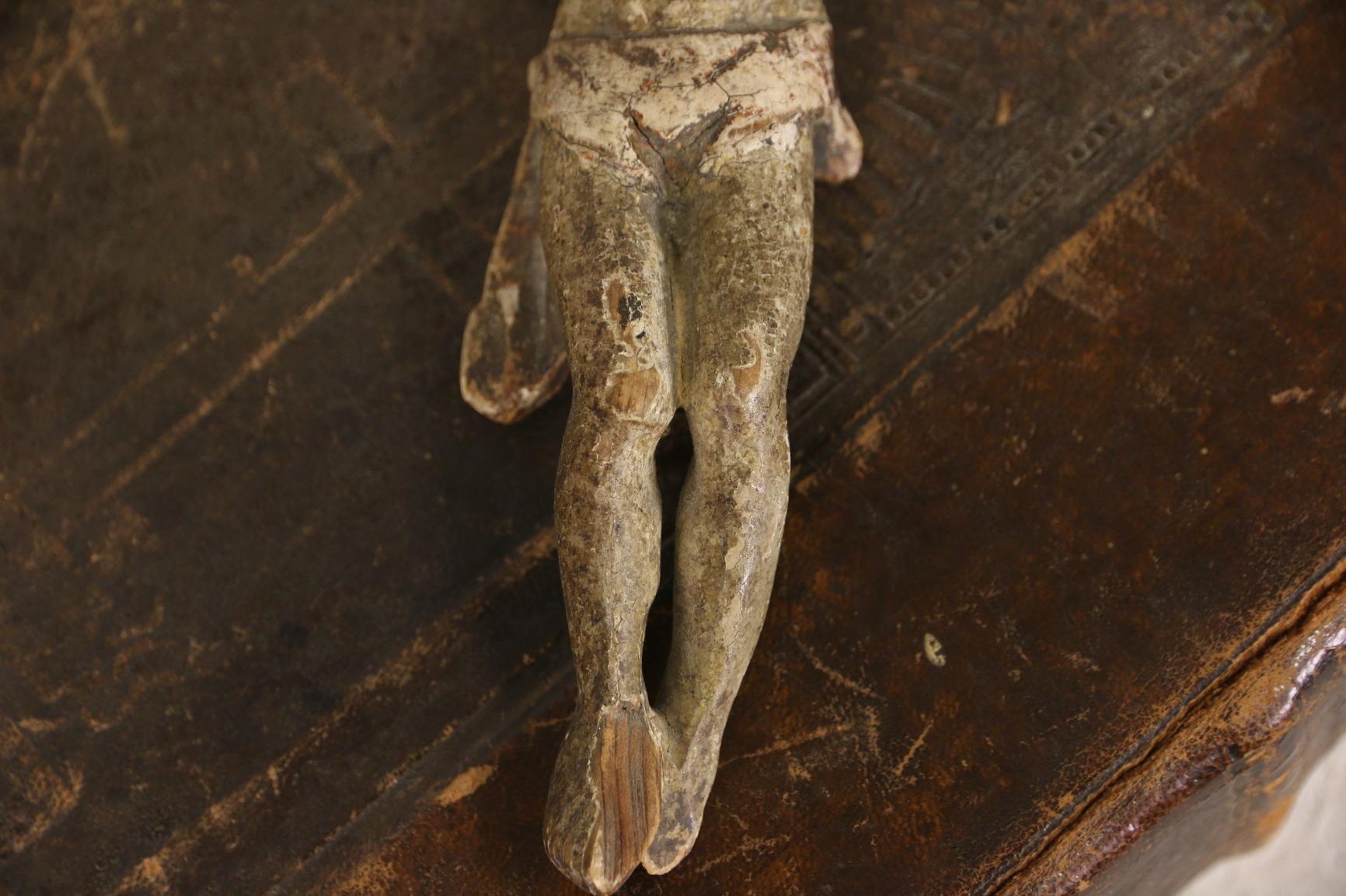 SOLD - Jesus Santo Figure, 1700's Antique Spanish Colonial Sculpture ...