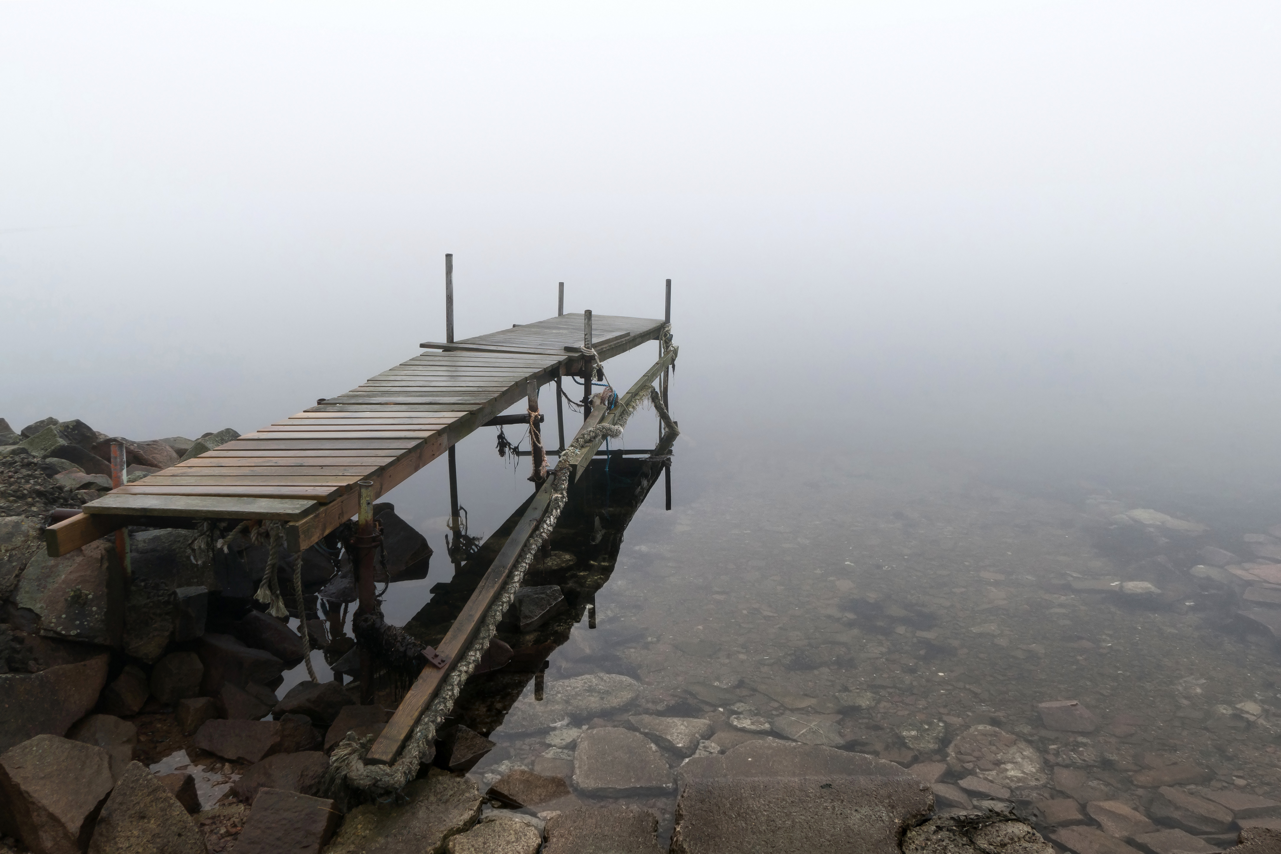Jetty in fog at Holländaröd 1, Boat, Brofjorden, Fog, Holländaröd, HQ Photo