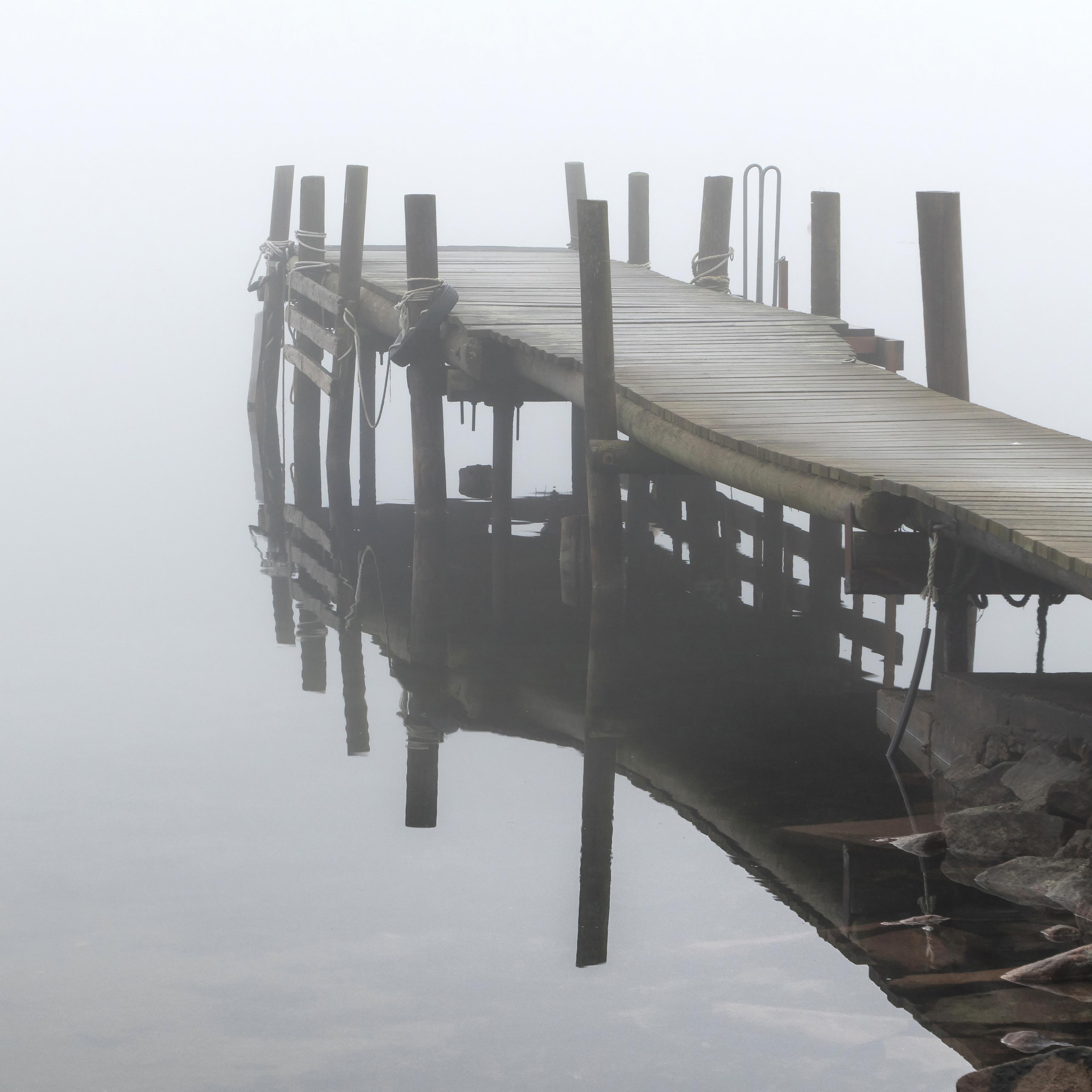 Jetty in fog at Holländaröd 4, Brofjorden, Fog, Holländaröd, Jetty, HQ Photo