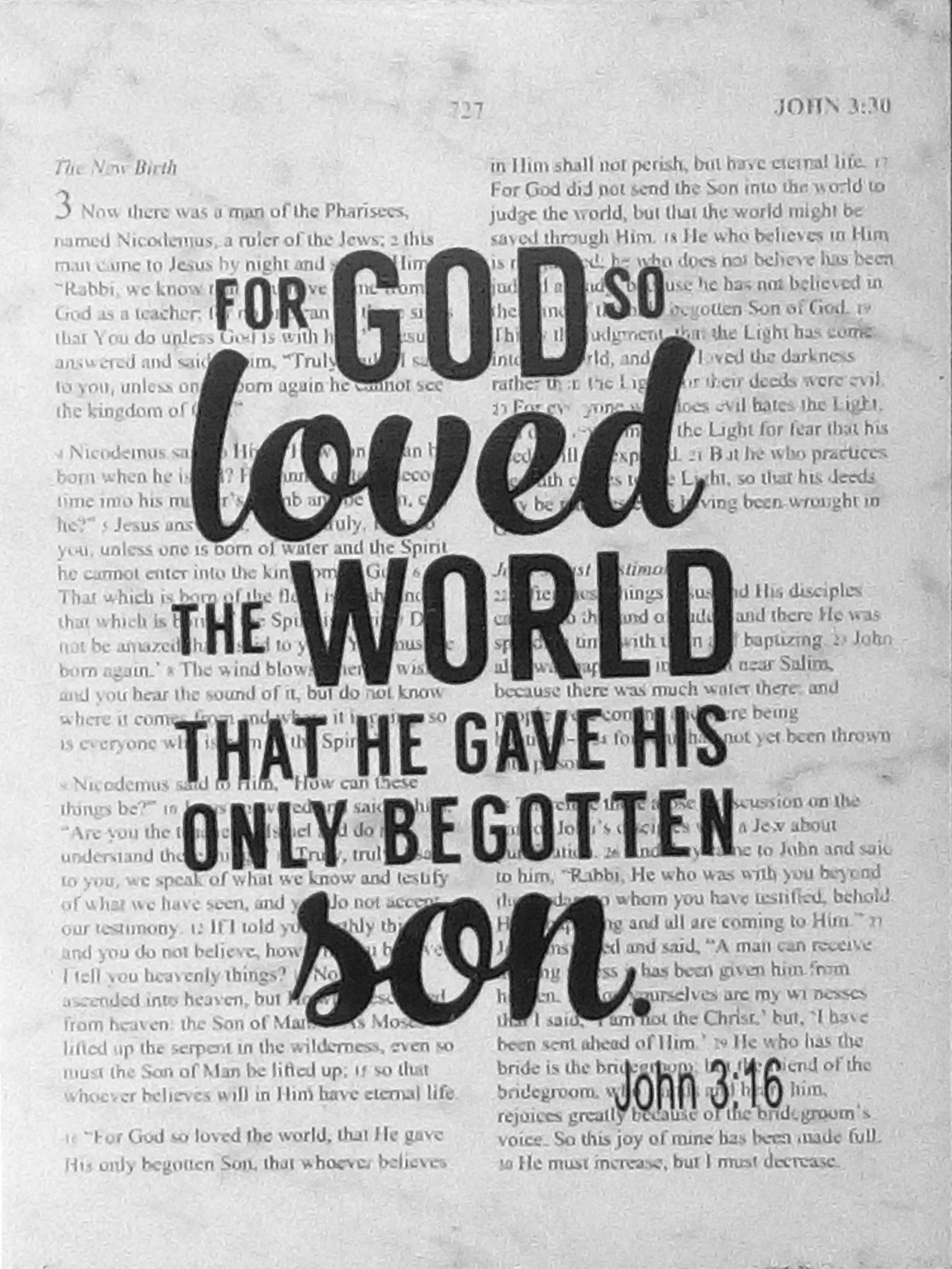 Bible Verse Home Decor - Bible Quote Sign | John 3:16 about God's ...