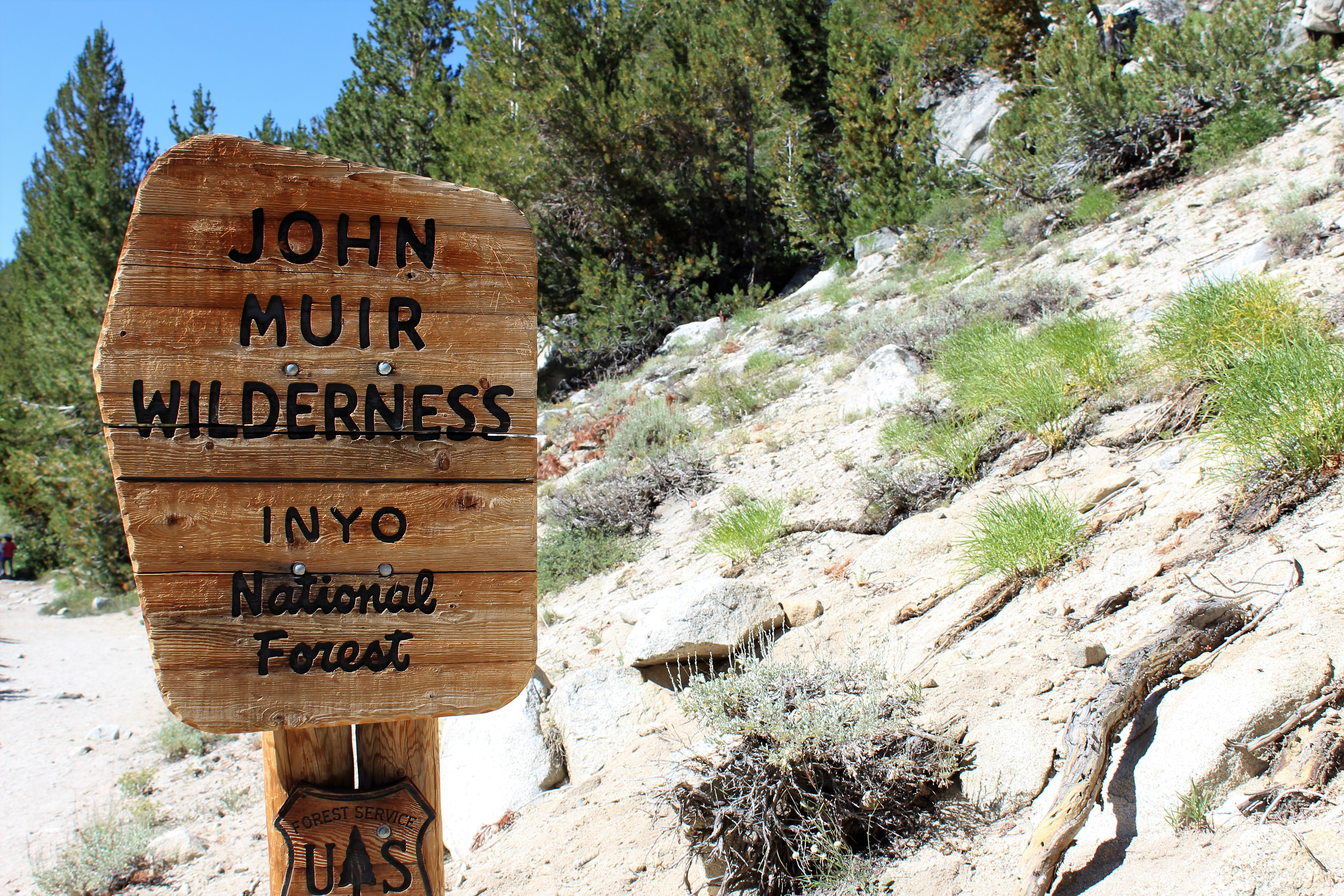 John muir wilderness signage photo