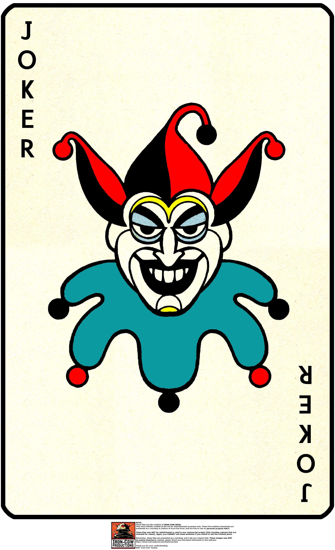 Joker Playing Card | ... » Batman: Batcave Playset – JOKER CARD ...