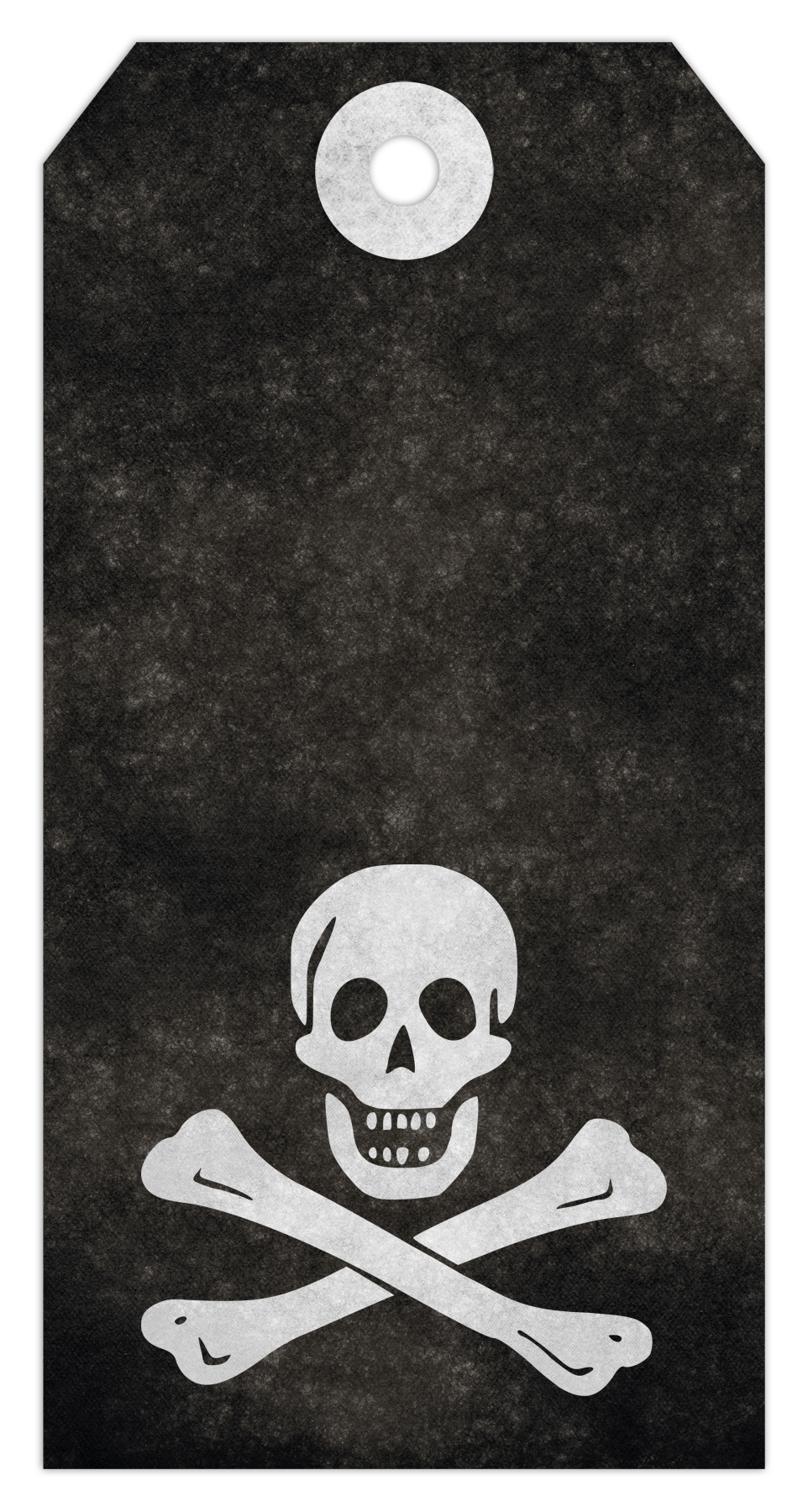 Jolly roger grunge tag - pirate skull &a photo