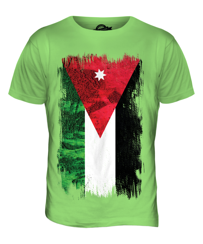 JORDAN GRUNGE FLAG MENS T-SHIRT TEE TOP AL-'URDUN FOOTBALL JORDANIAN ...