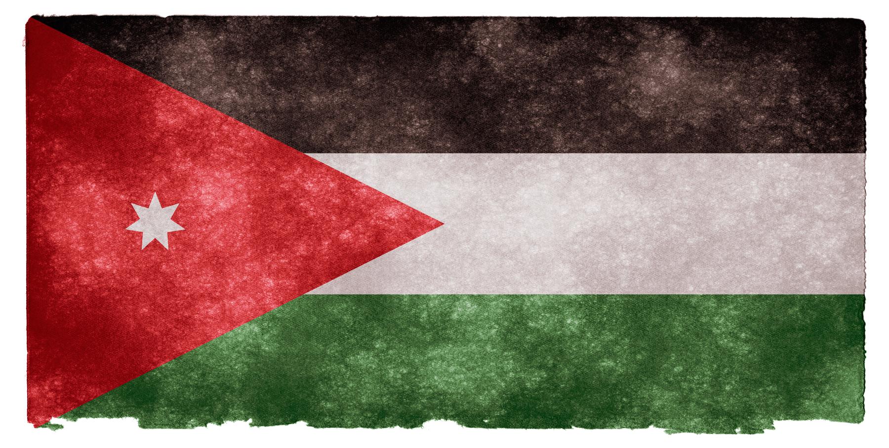 Jordan Grunge Flag, Aged, Red, Middle-east, Middle-eastern, HQ Photo
