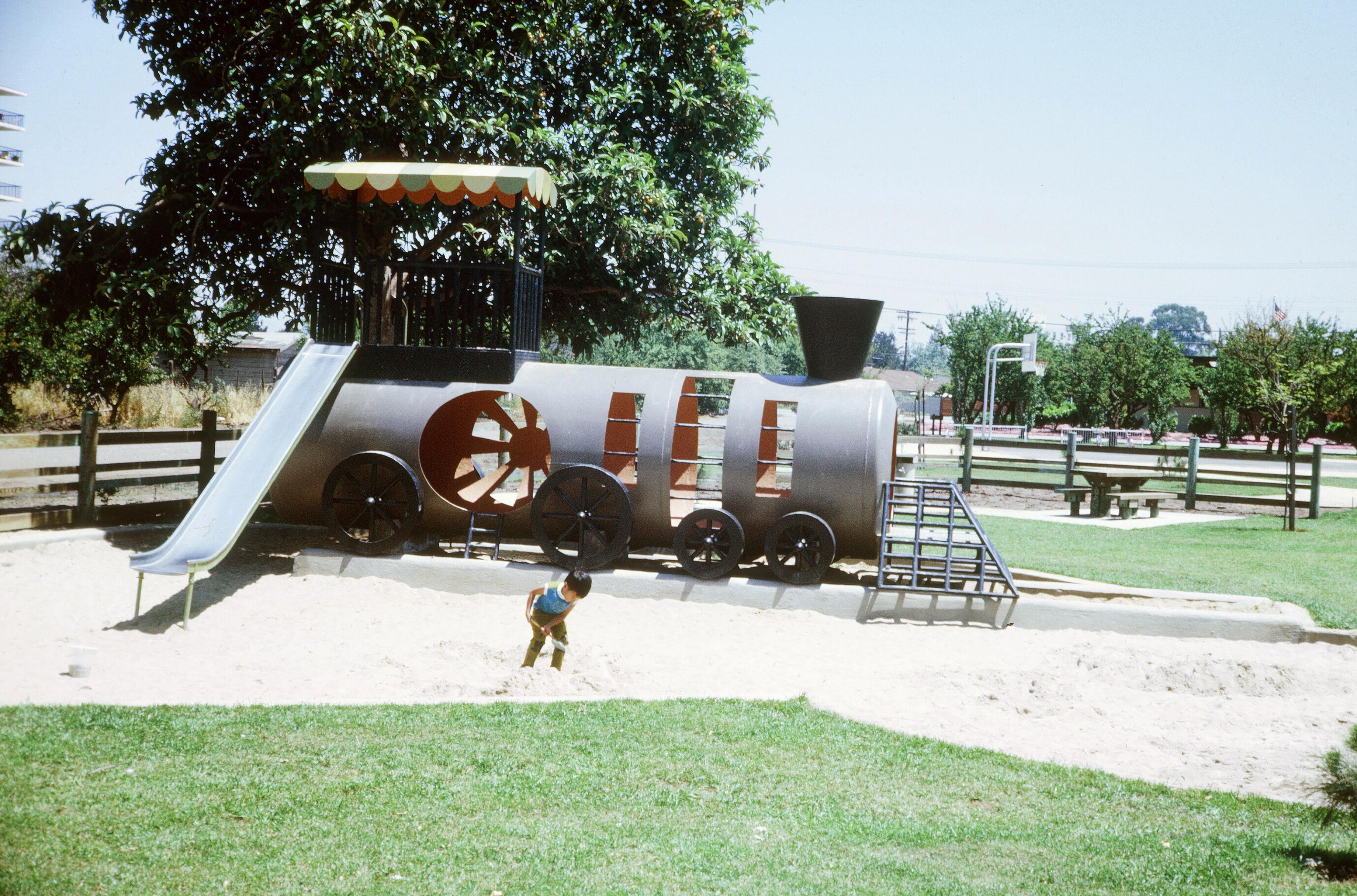 Juana Briones Park, Palo Alto (May 1969), 1969, California, Car, Grass, HQ Photo