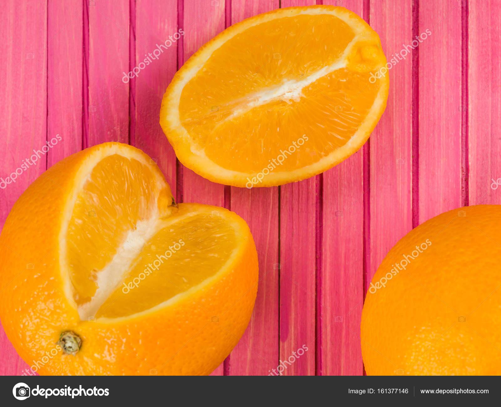 Fresh Ripe Juicy Oranges And Orange Segments — Stock Photo ...