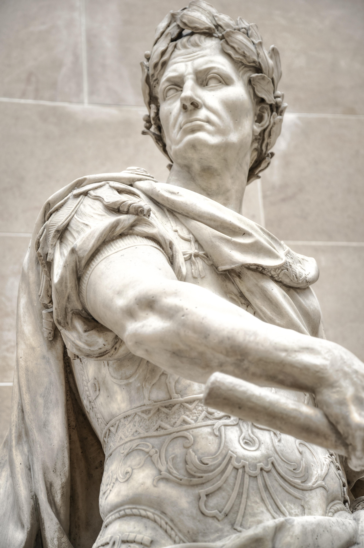 Julius caesar marble statue photo