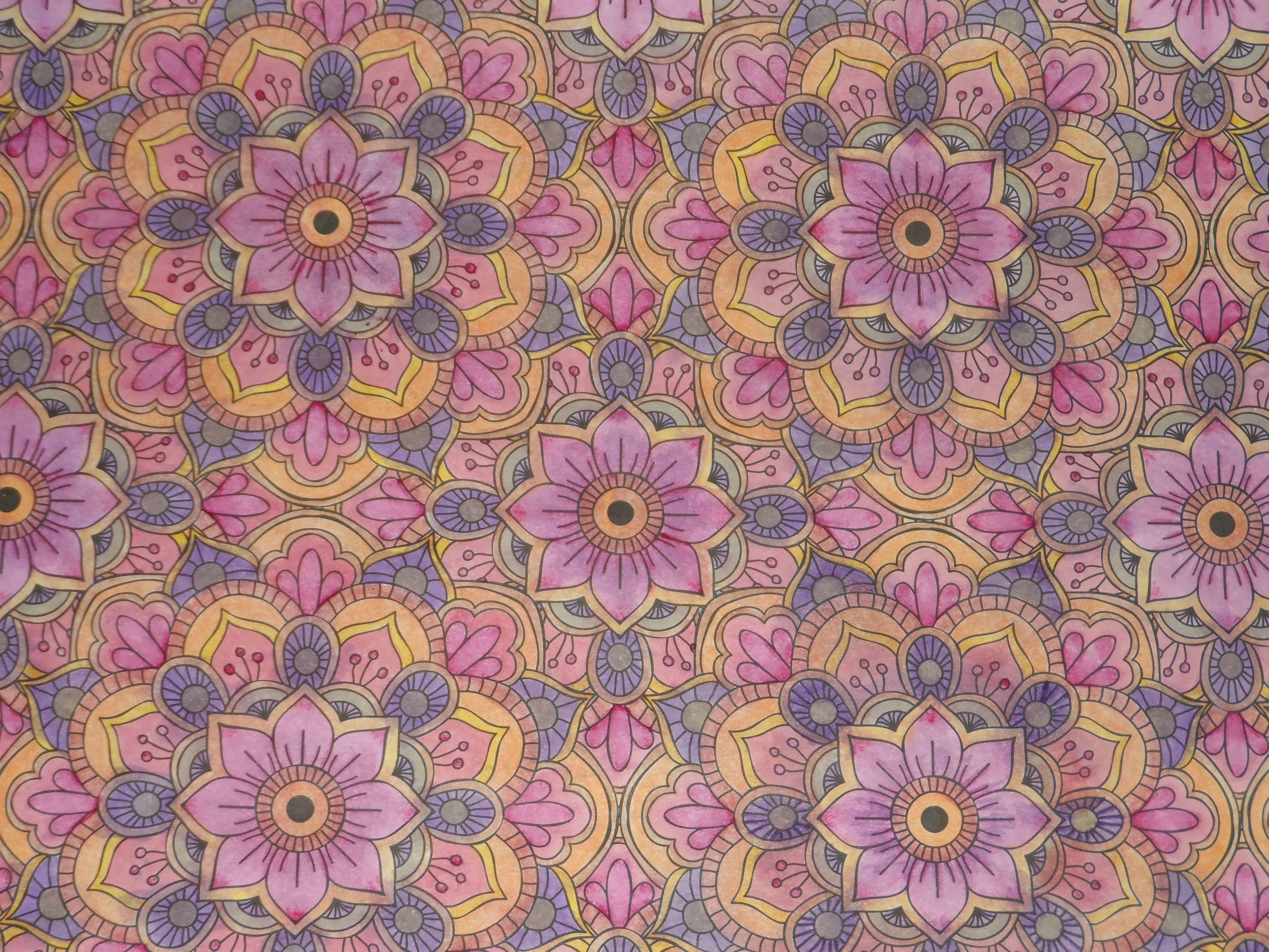 Kaleidoscope flower mandala photo