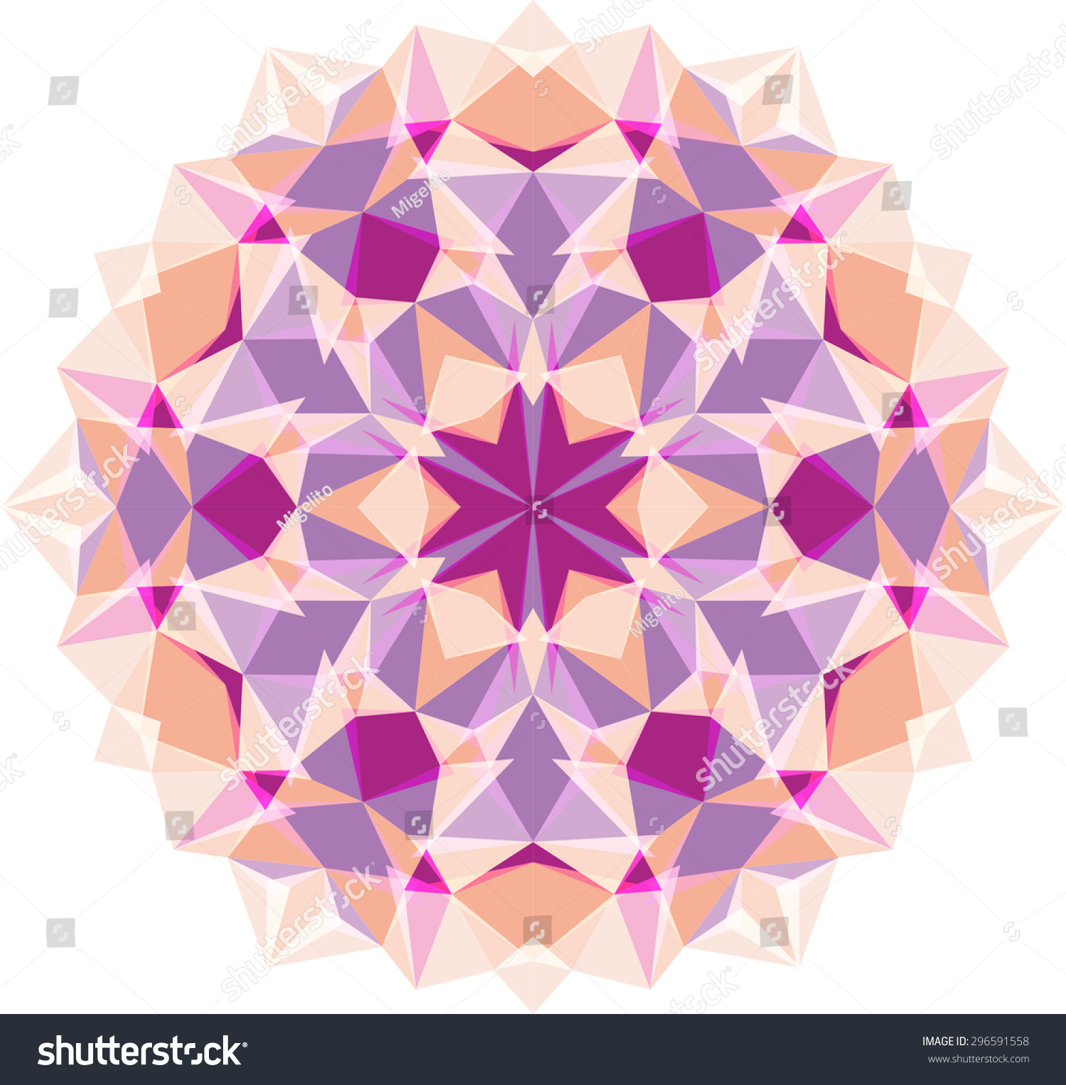 Kaleidoscope flower mandala photo