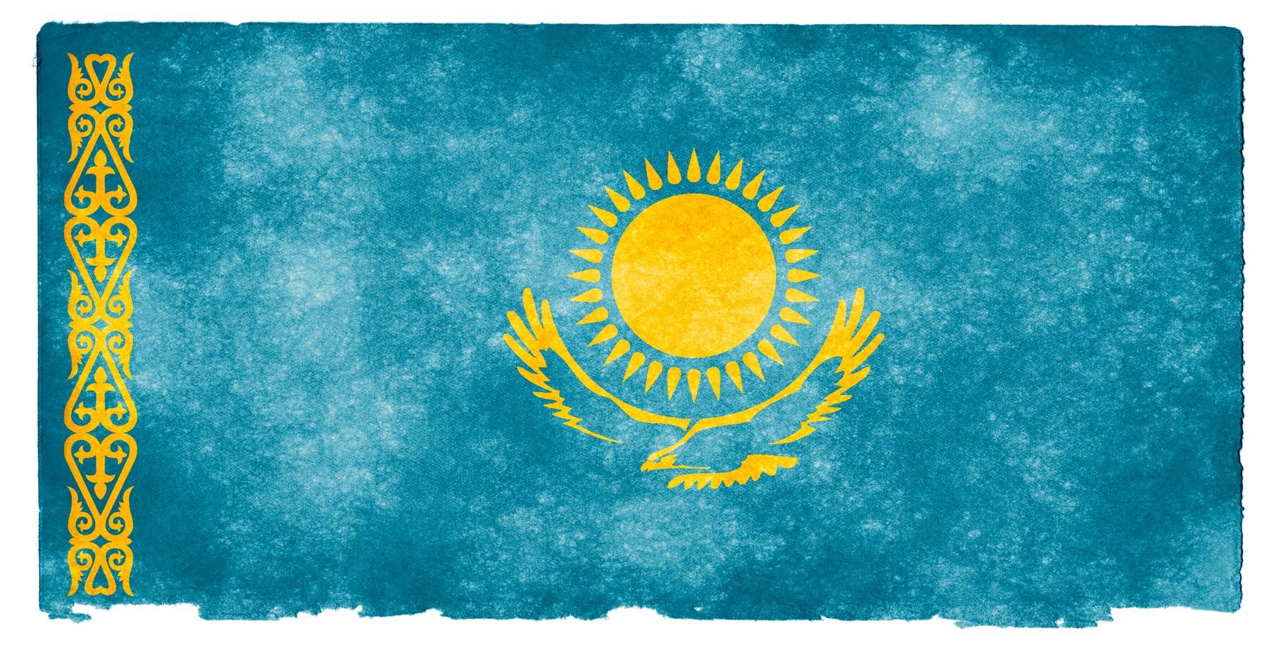 Kazakhstan Grunge Flag, Aged, Proud, Kazakhstan, Nation, HQ Photo