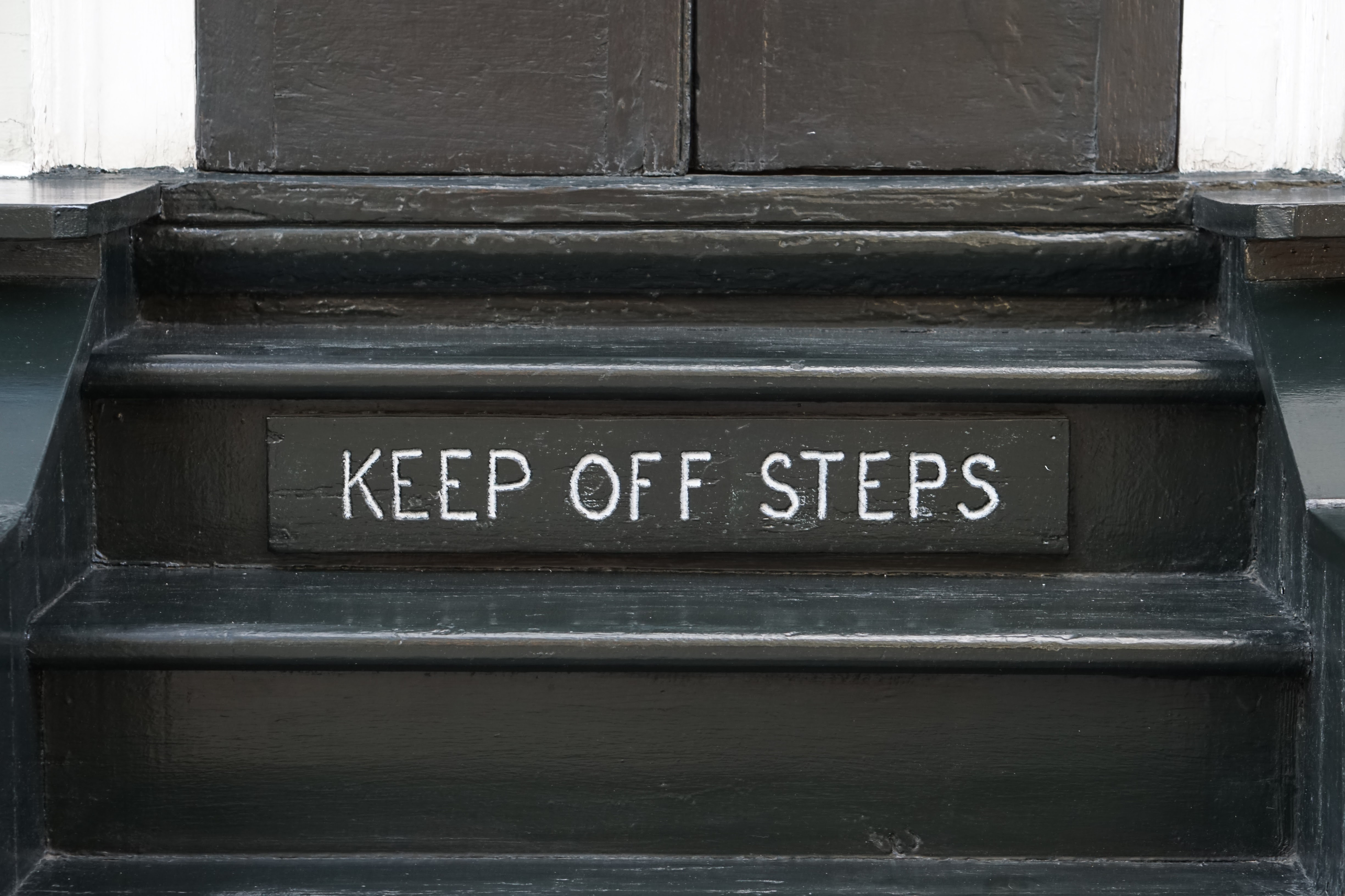Keep Off Steps, Stairs, Warning, Steps, Orleans, HQ Photo