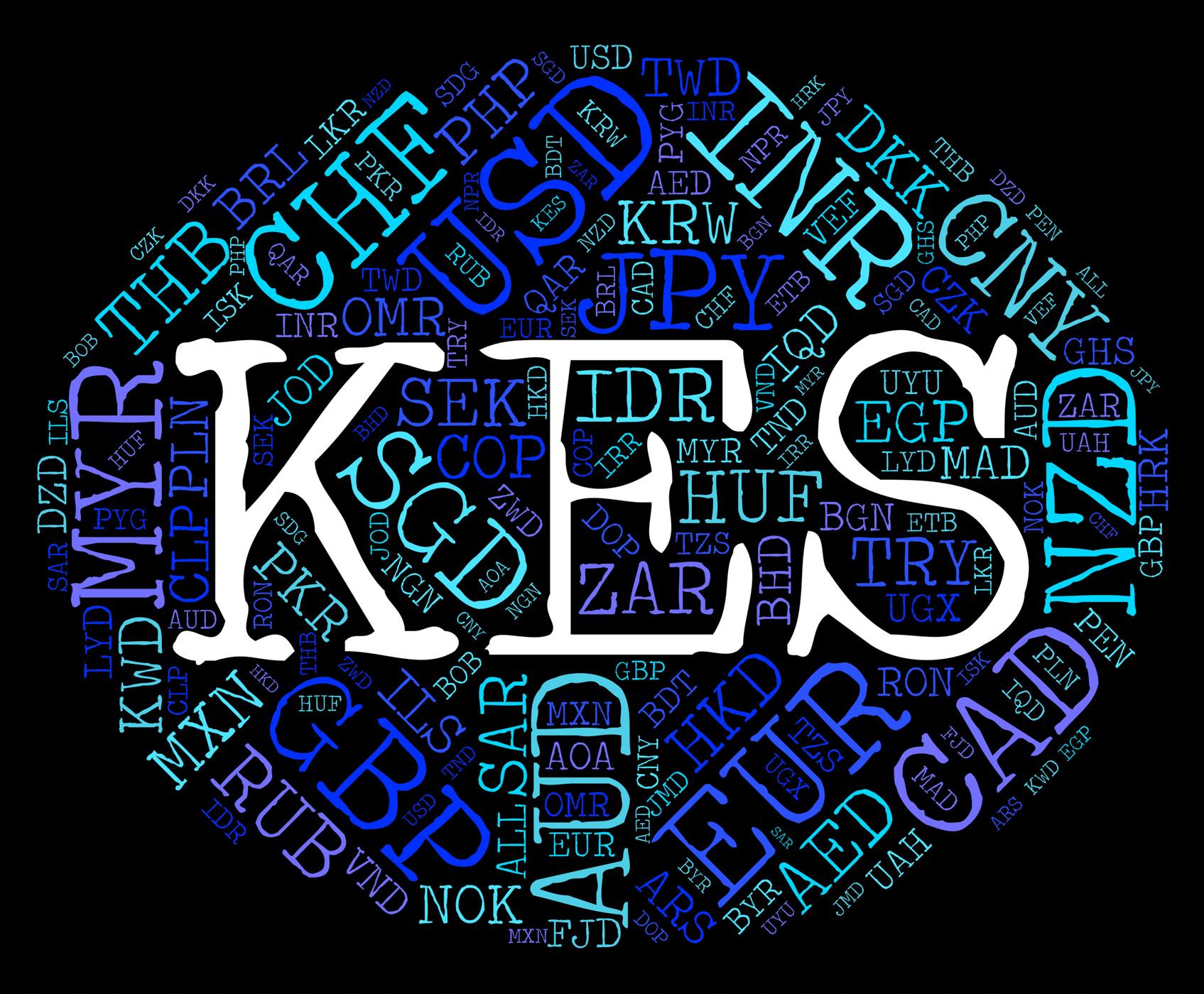 Kes currency represents kenya shilling and broker photo