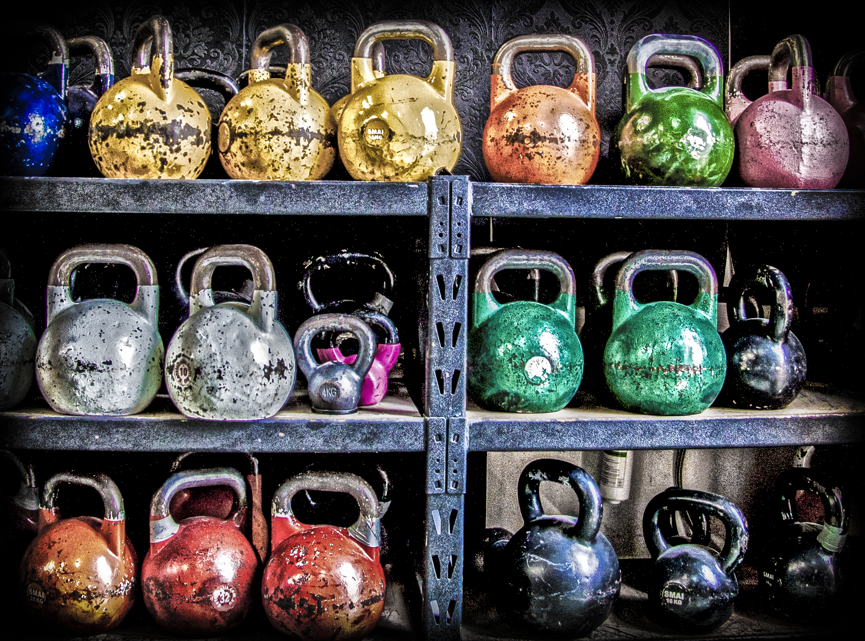 Kettle bell Heaven, Colorful, Crossfit, Exercise, Fitness, HQ Photo