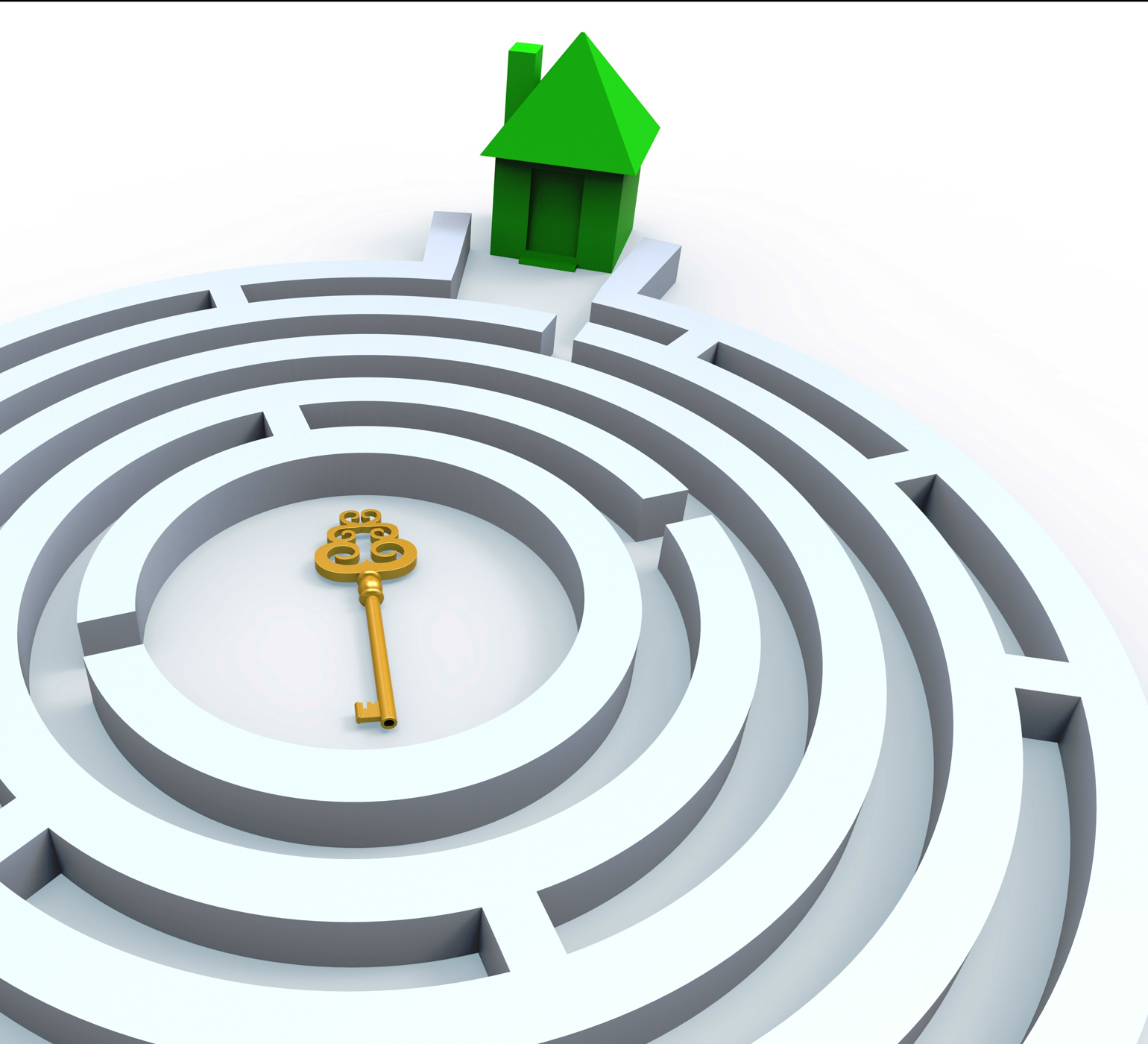 Key to home in maze shows property search photo